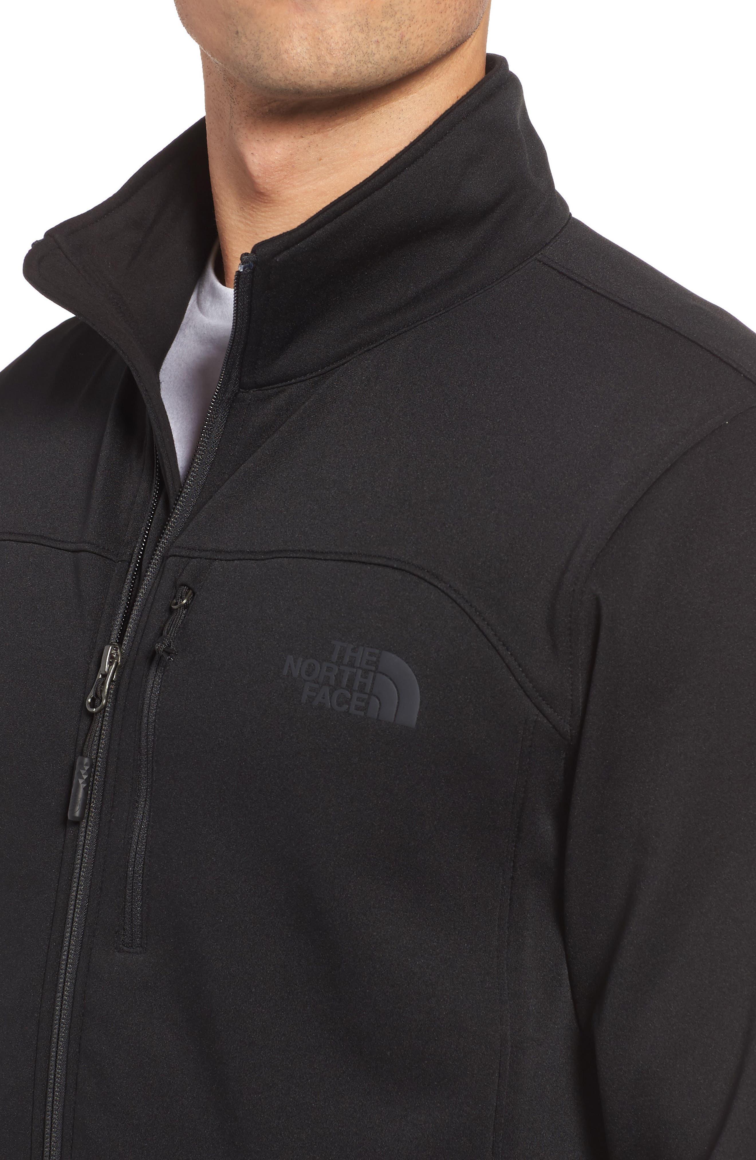 'Momentum' Fleece Jacket,                             Alternate thumbnail 4, color,                             TNF BLACK