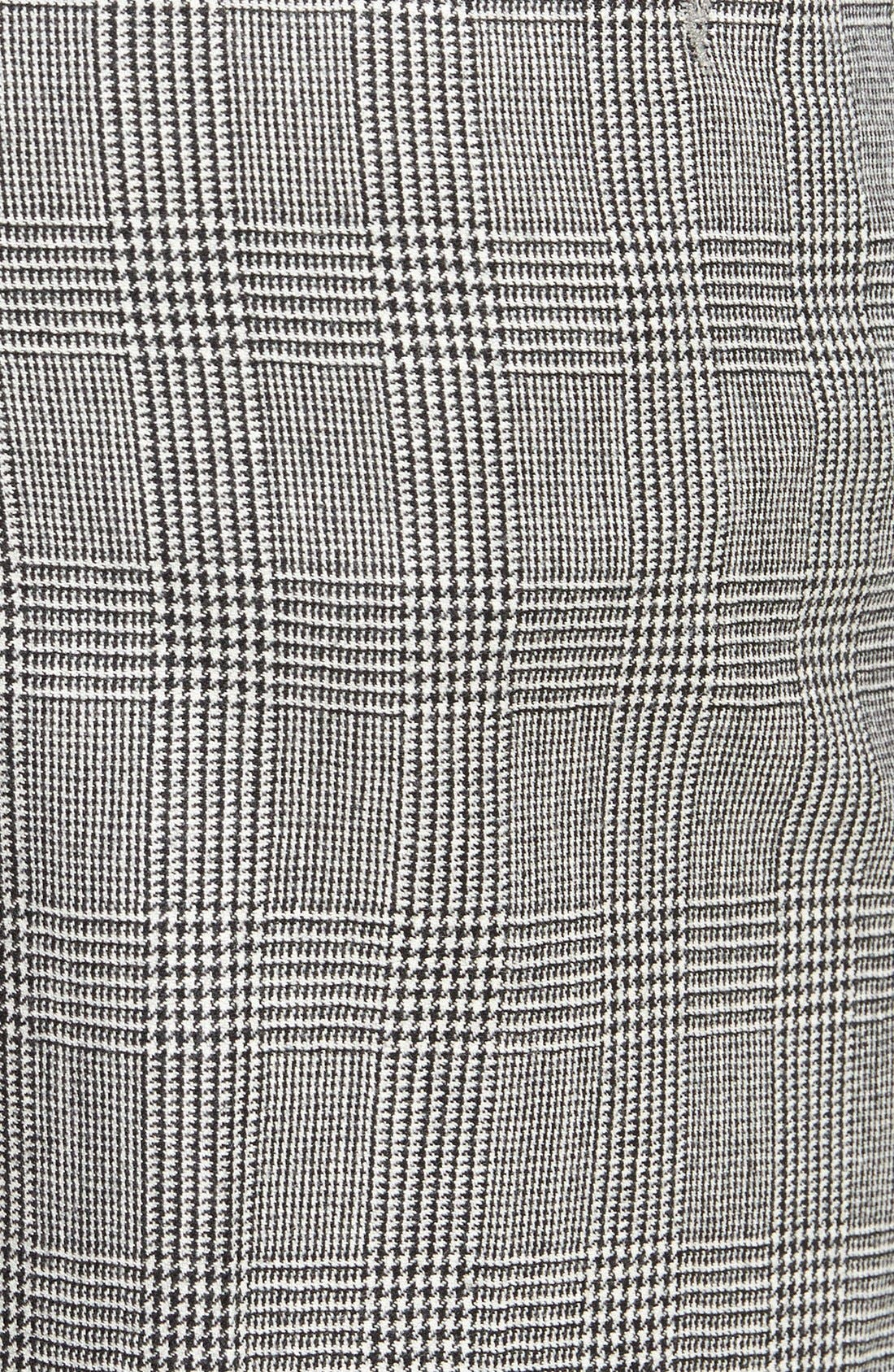 Flat Front Plaid Wool Trousers,                             Alternate thumbnail 2, color,                             060