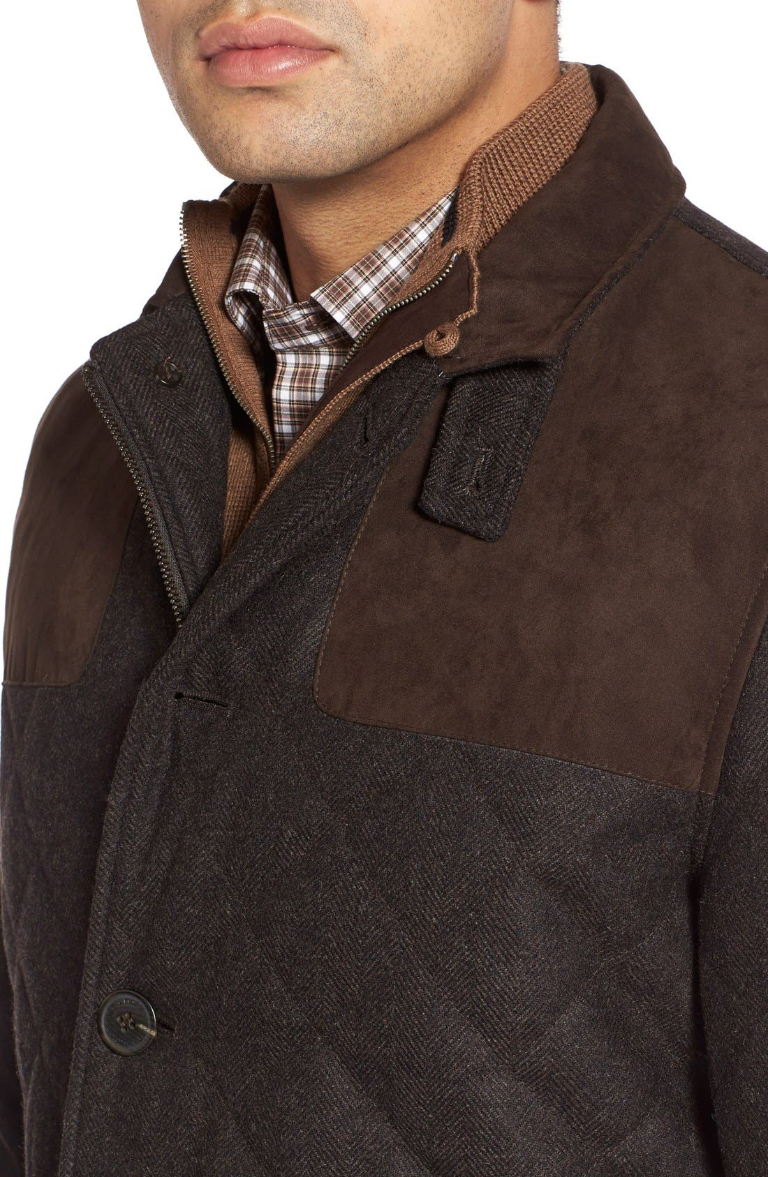 'Shooter' Wool Blend Quilted Jacket,                             Alternate thumbnail 17, color,