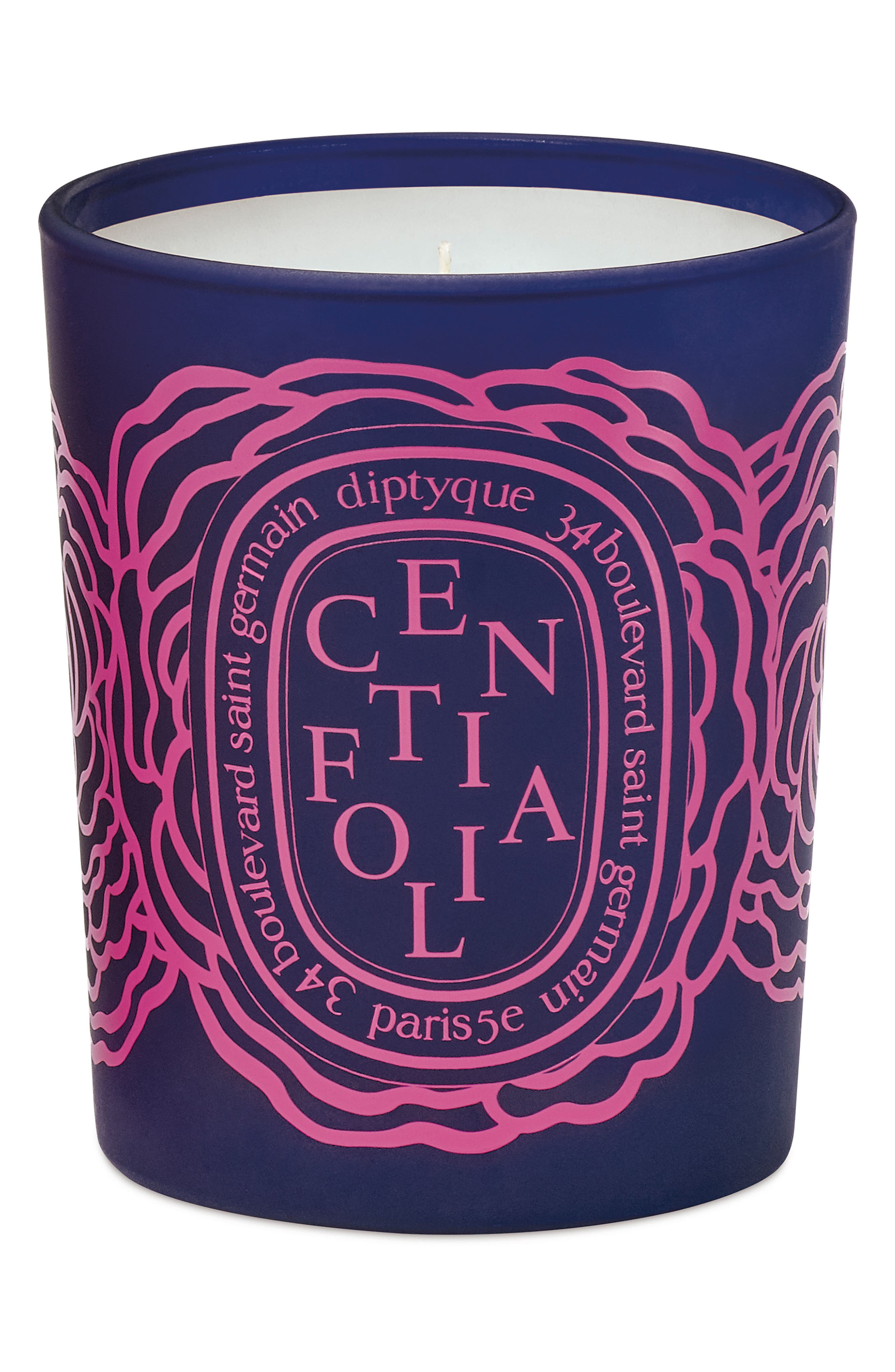 Roses Centifolia Scented Candle, Main, color, NO COLOR