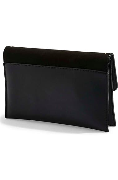Topshop Candice Studded Faux Leather Clutch  c0628c16ebce0