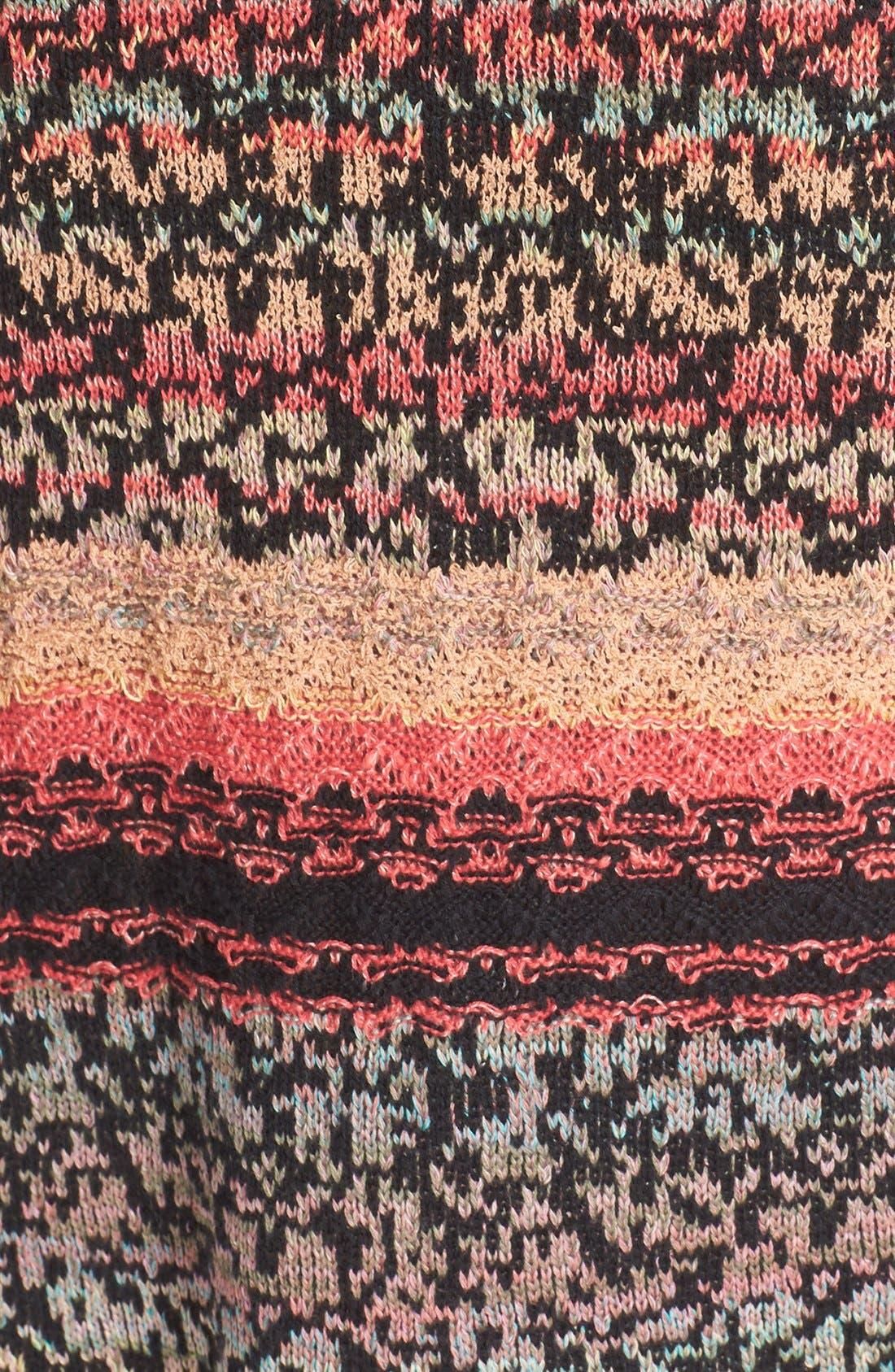 'Midnight Flowers' Split Hem Dress,                             Alternate thumbnail 2, color,                             001