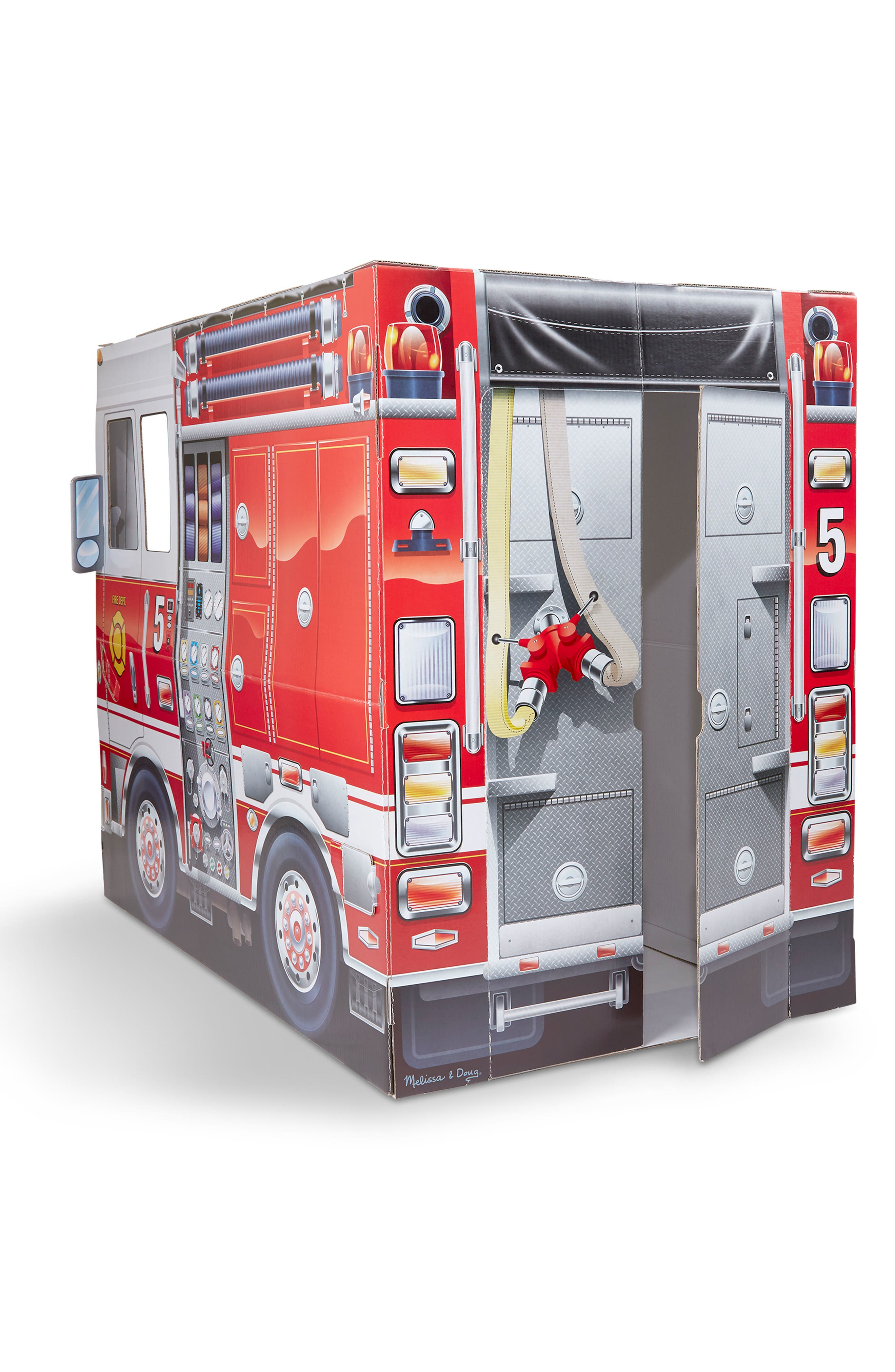 MELISSA & DOUG,                             Indoor Fire Truck Playhouse,                             Alternate thumbnail 2, color,                             RED