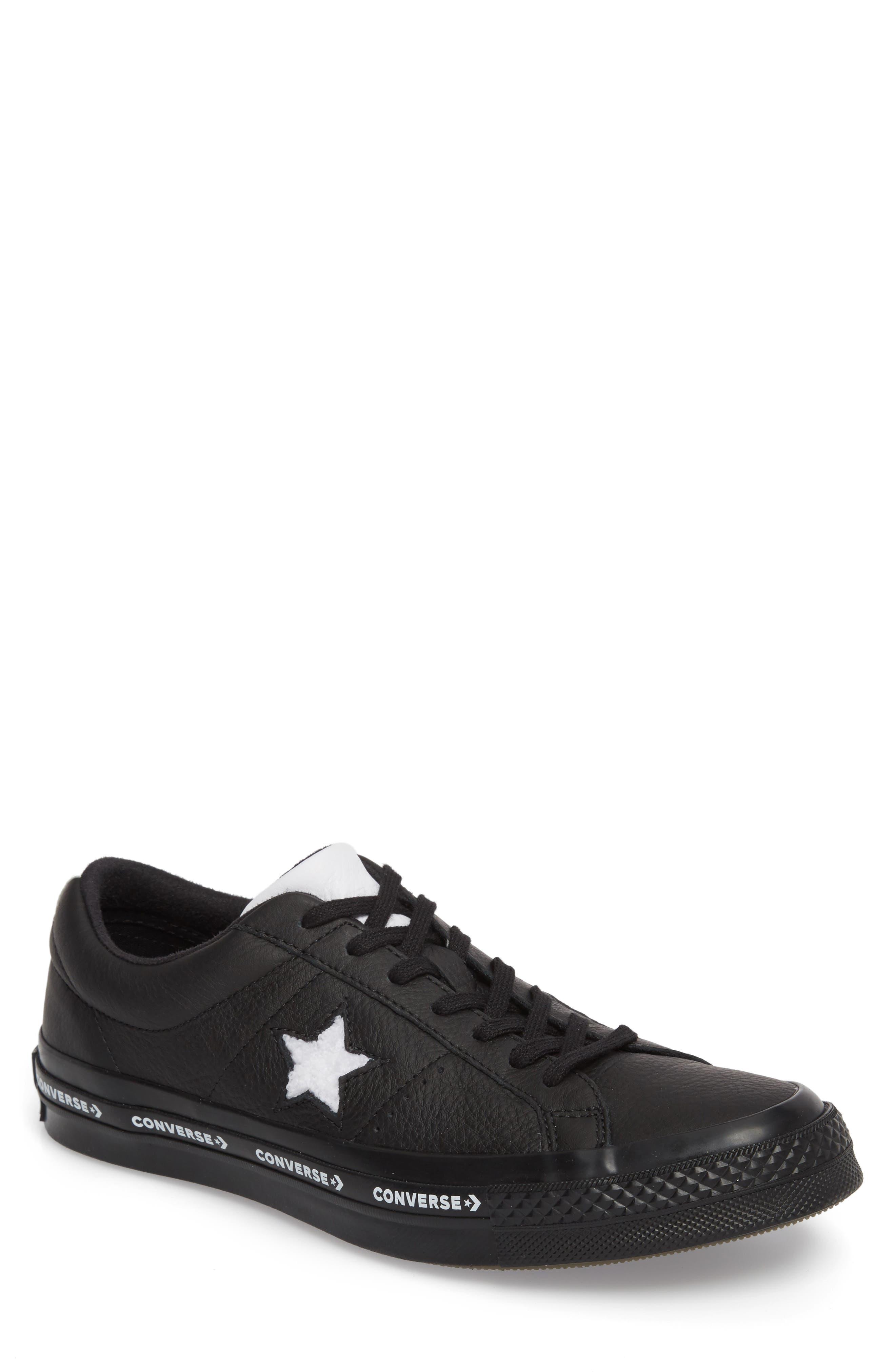 Chuck Taylor<sup>®</sup> One Star Pinstripe Sneaker,                             Main thumbnail 1, color,                             001
