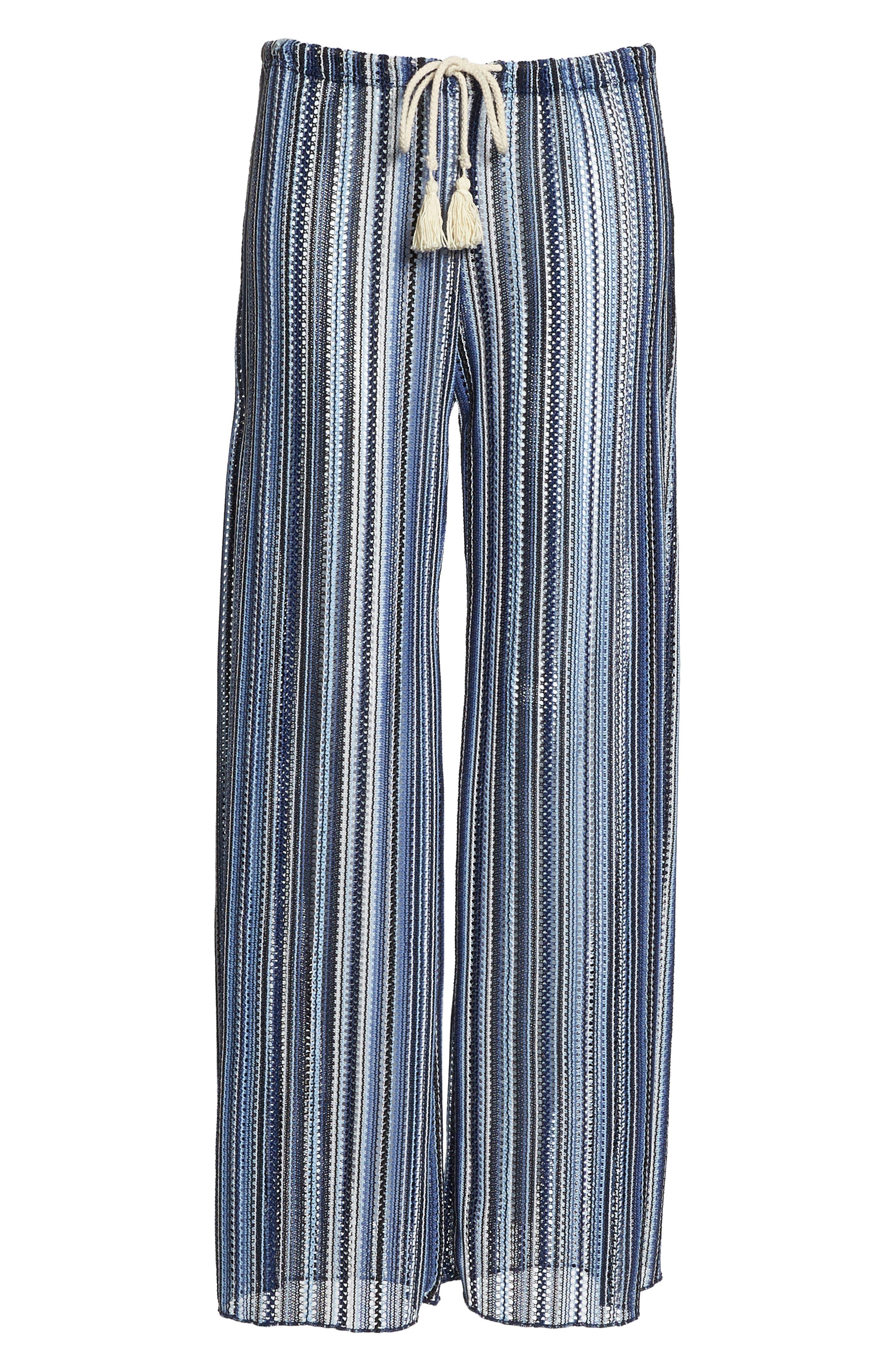 Pierside Cover-Up Flyaway Pants,                             Alternate thumbnail 6, color,                             INDIGO