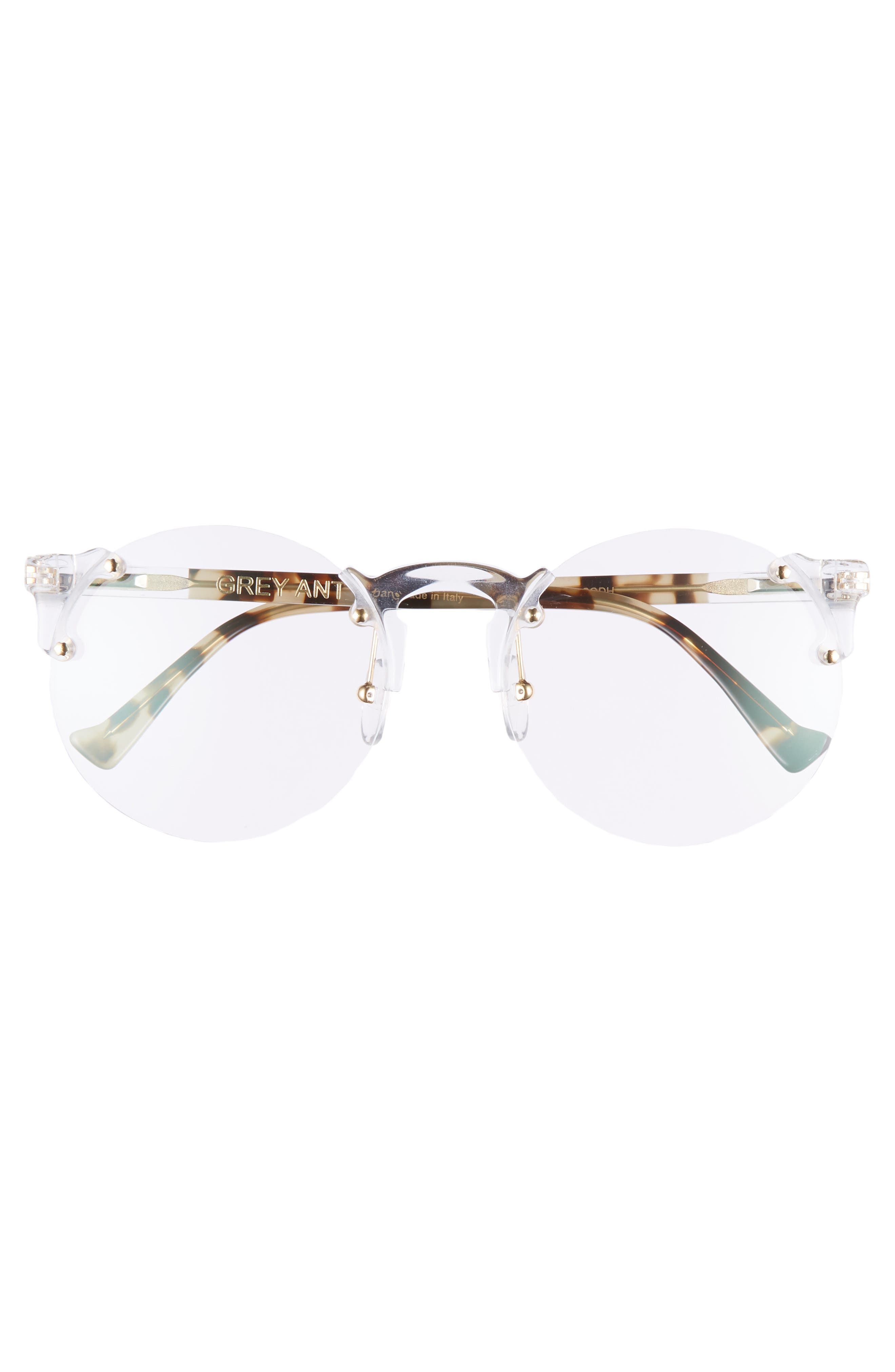 Solo 57mm Rimless Optical Glasses,                             Alternate thumbnail 3, color,                             CLEAR/ GOLD