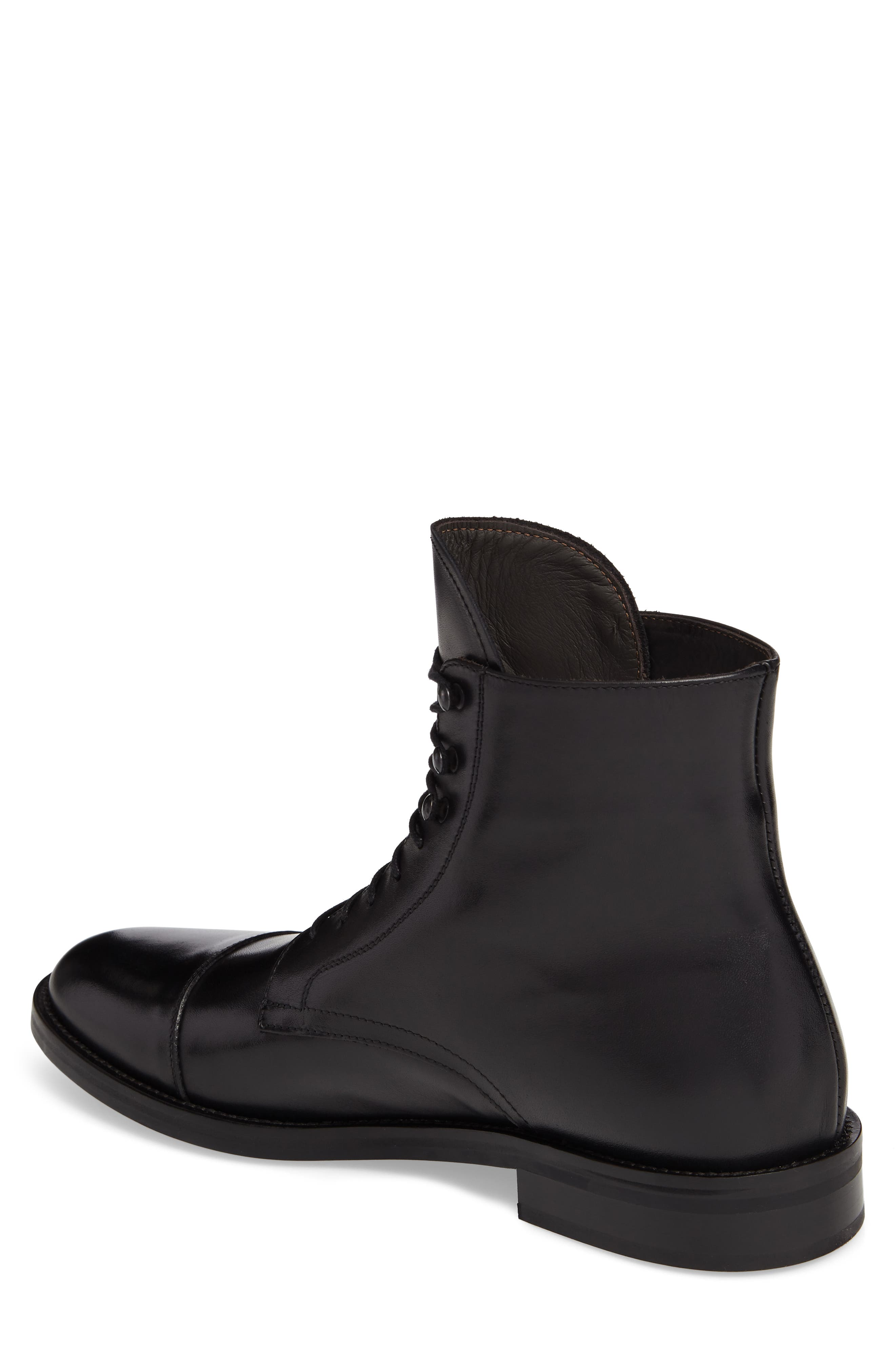 Henri Cap Toe Boot,                             Alternate thumbnail 2, color,                             BLACK