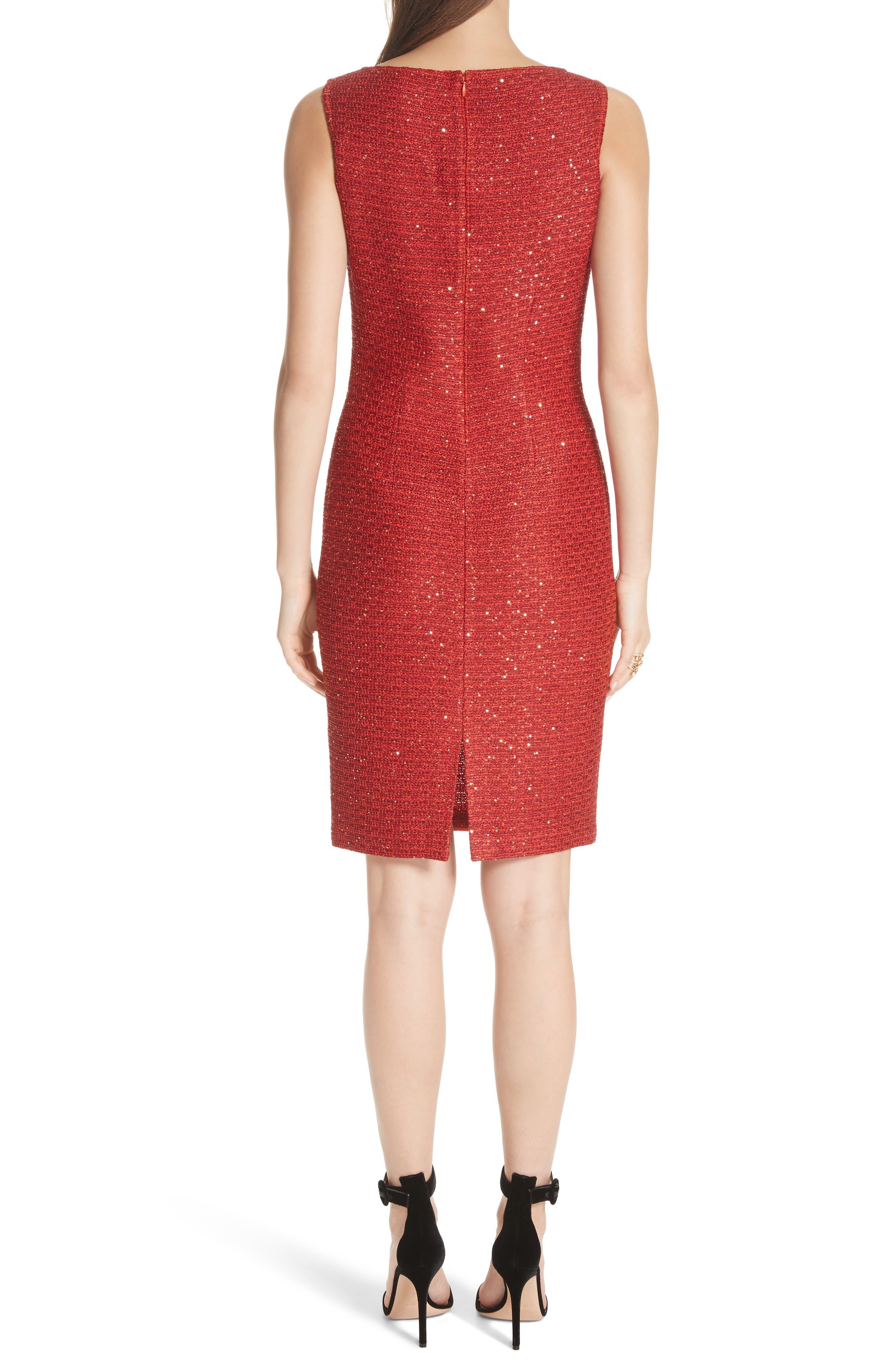 Glamour Sequin Knit Sheath Dress,                             Alternate thumbnail 2, color,                             SIENNA MULTI