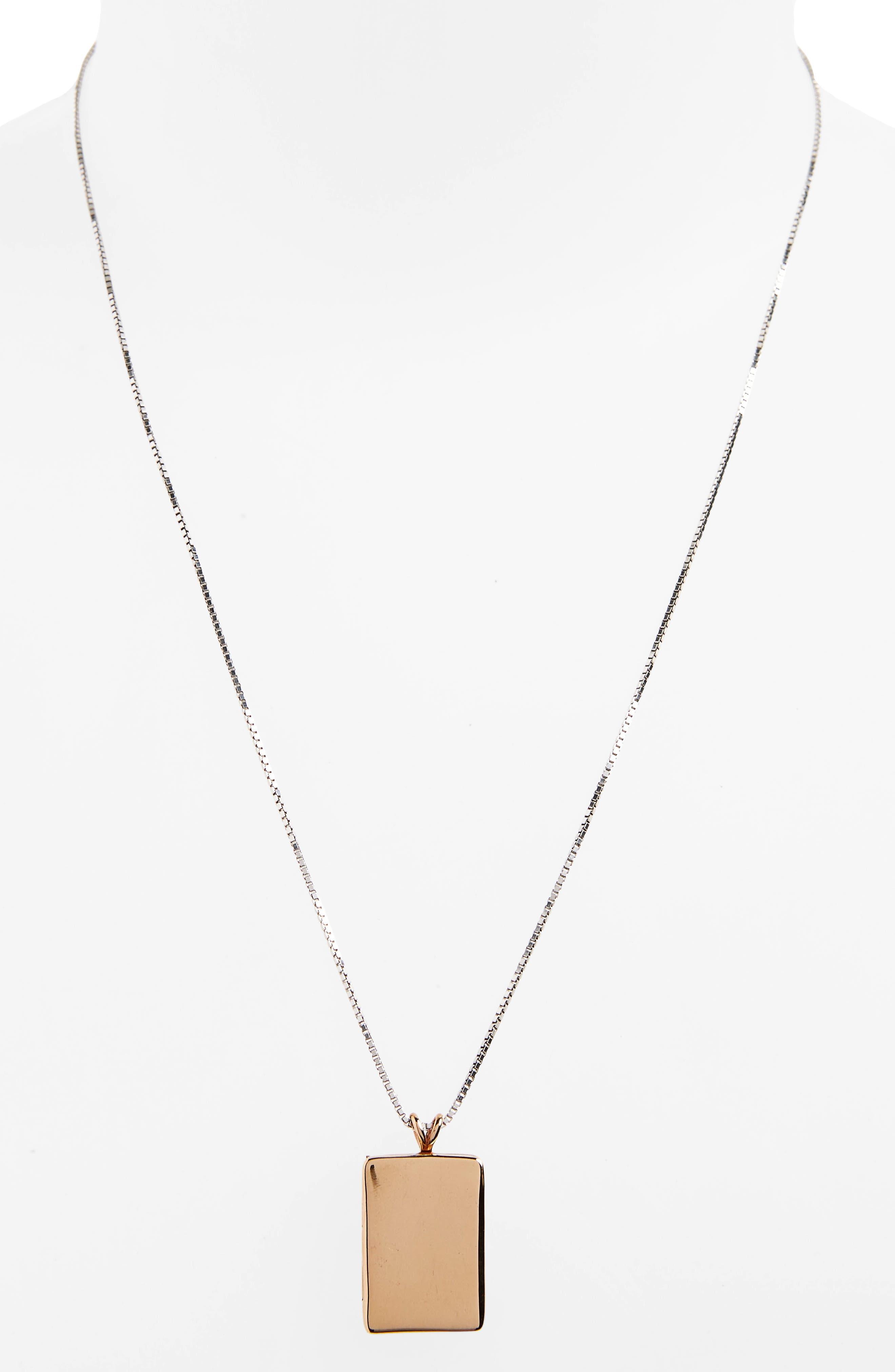 Bronze Locket Necklace,                             Alternate thumbnail 2, color,                             710