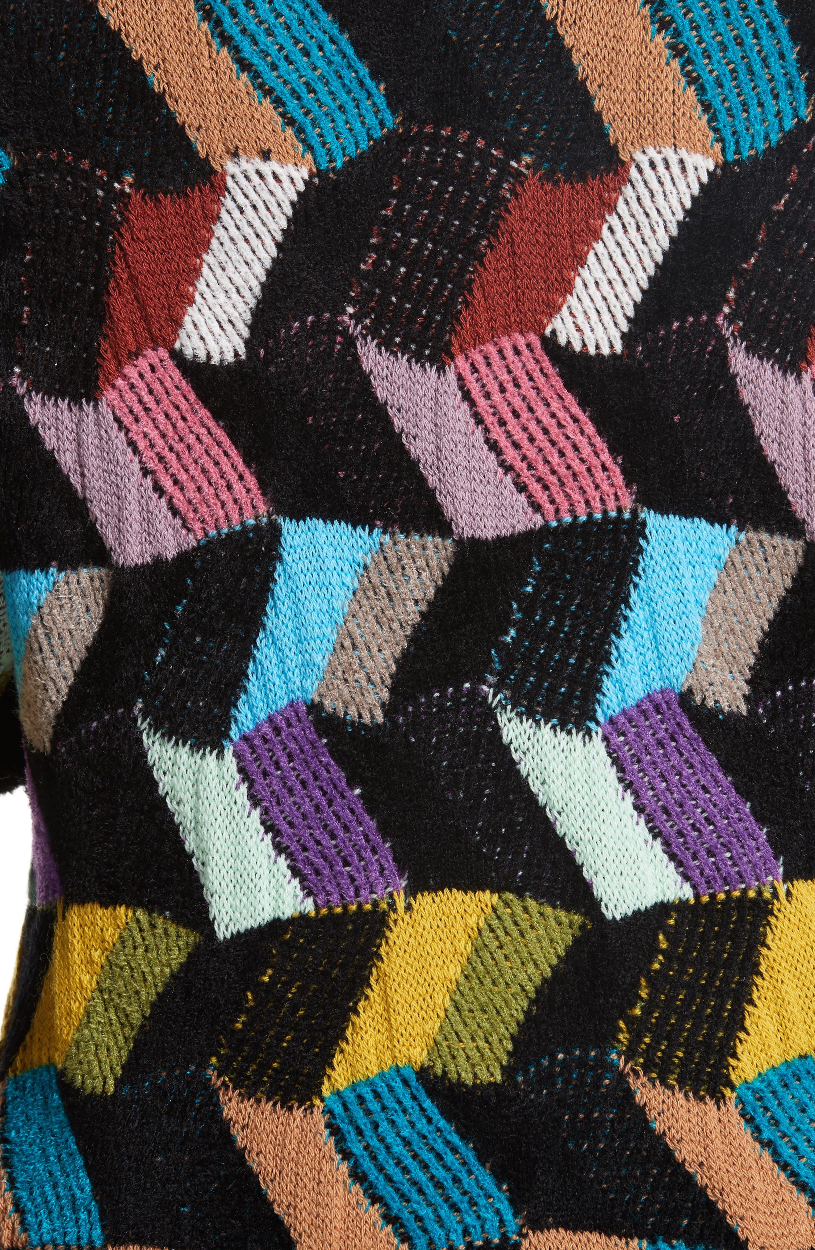 Jacquard Sweater,                             Alternate thumbnail 5, color,                             001