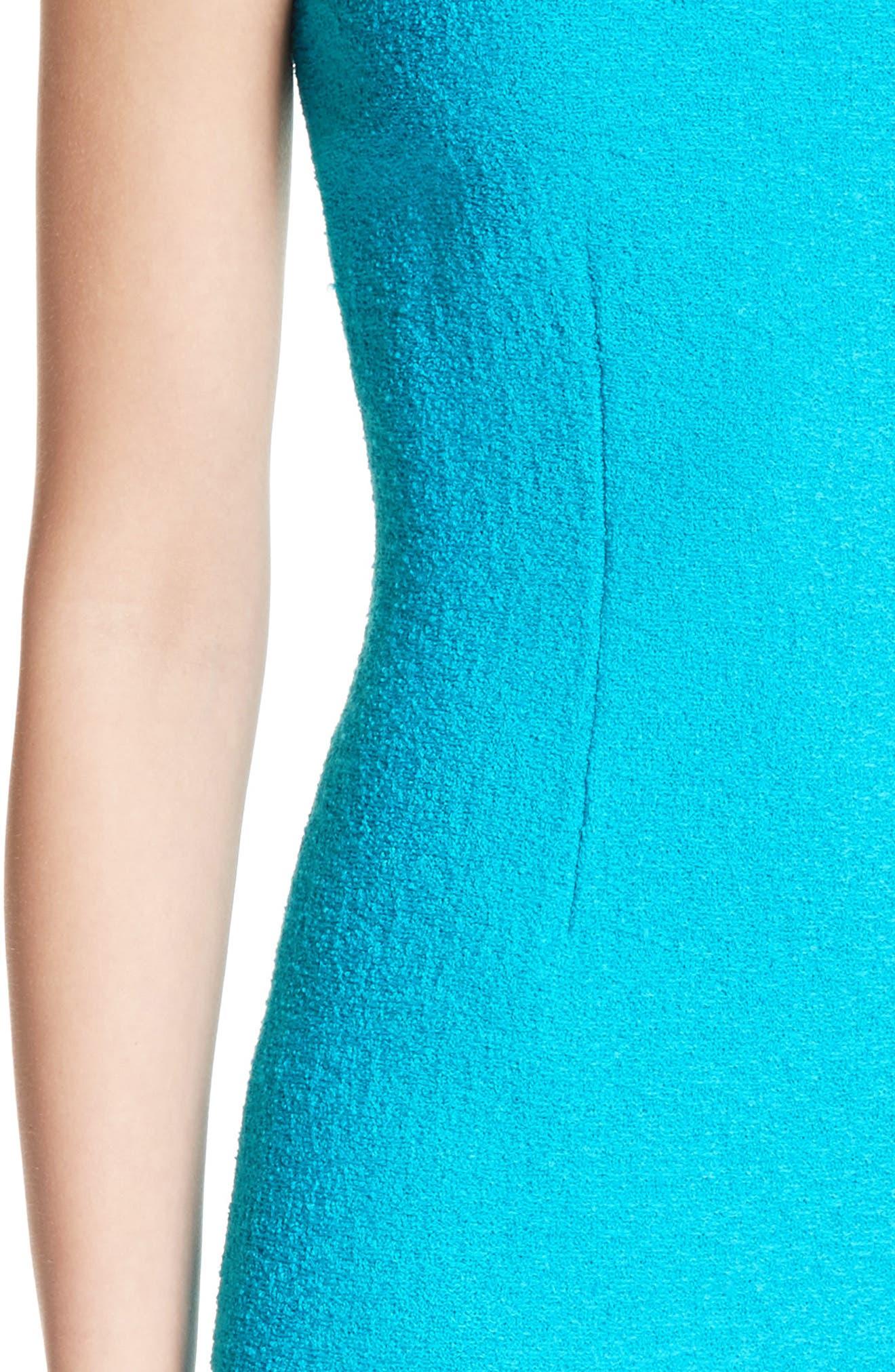 Clair Knit A-Line Dress,                             Alternate thumbnail 4, color,                             440