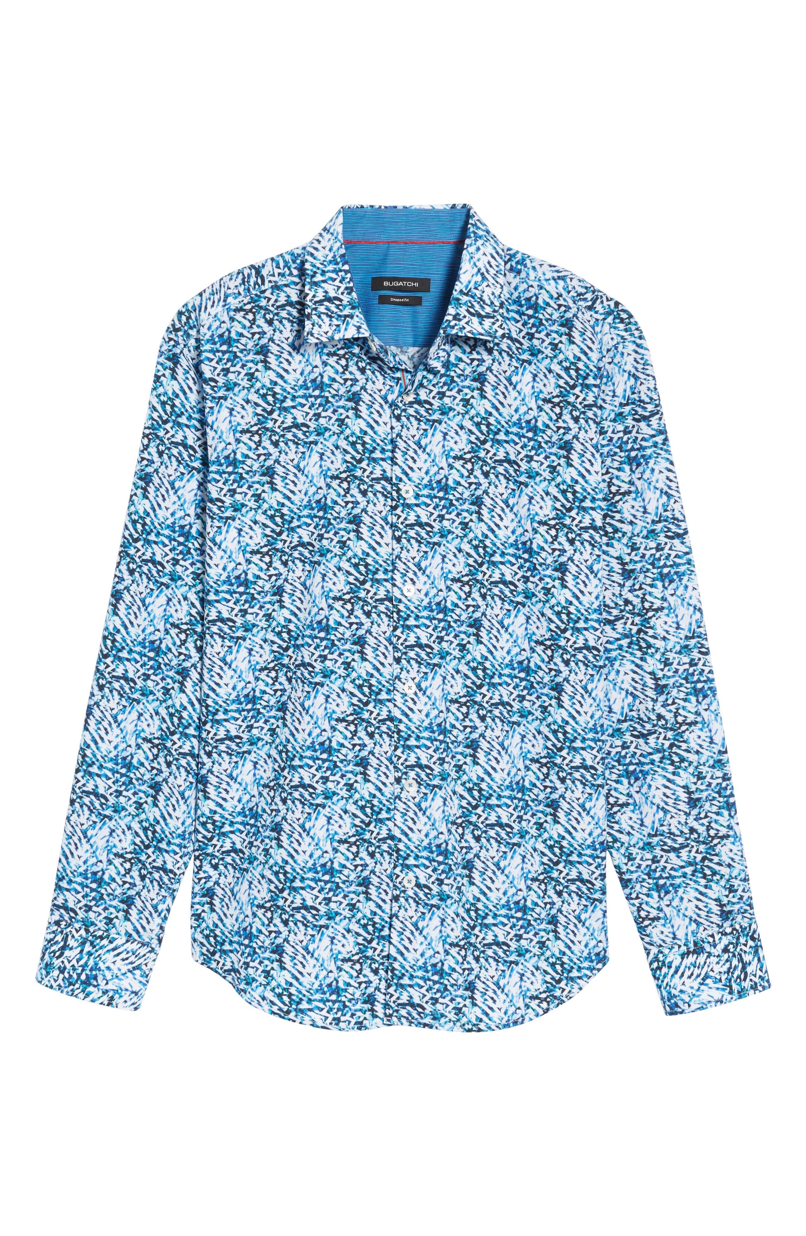 Shaped Fit Sport Shirt,                             Alternate thumbnail 6, color,                             422