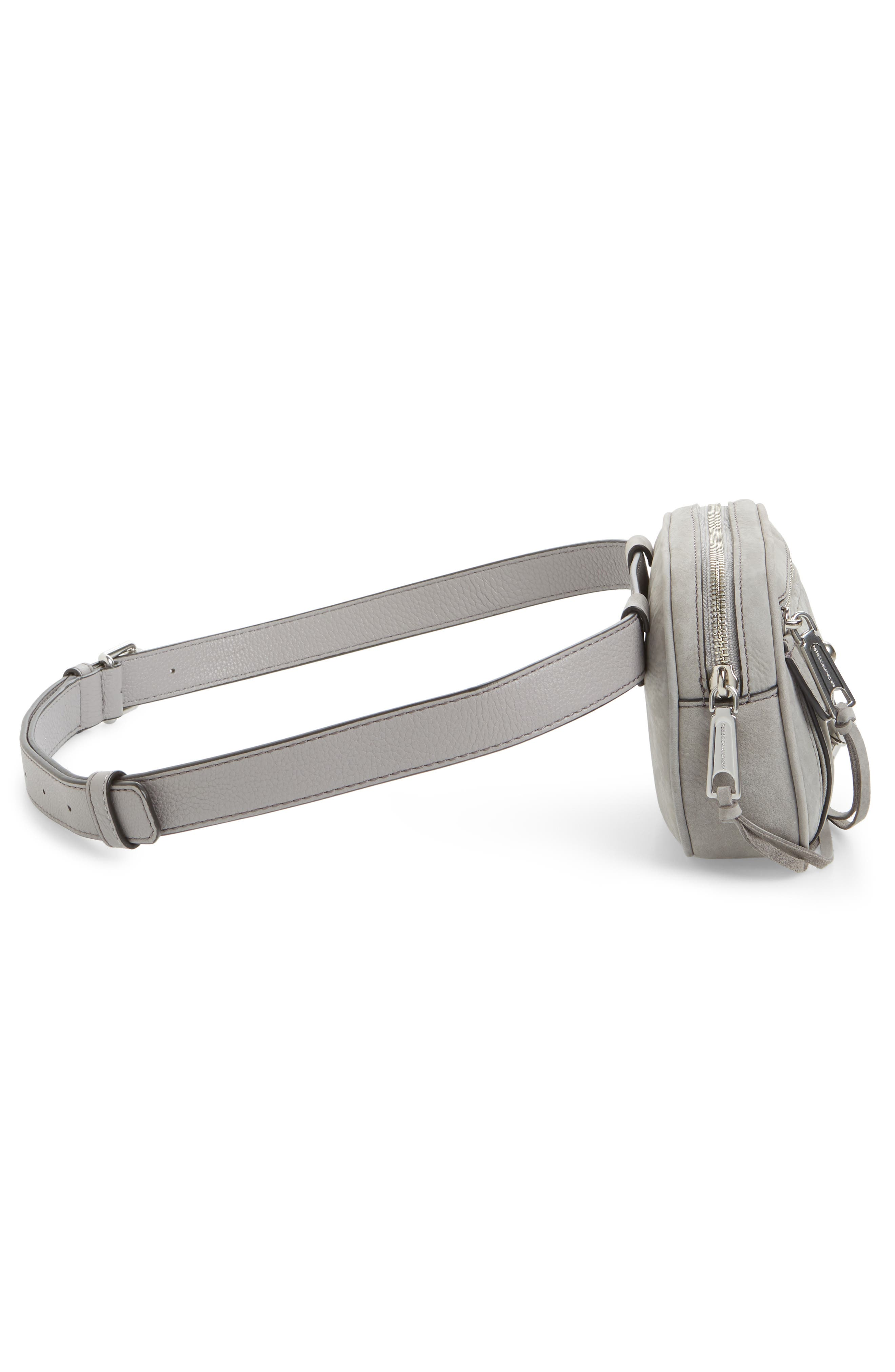 Blythe Leather Belt Bag,                             Alternate thumbnail 6, color,                             GREY