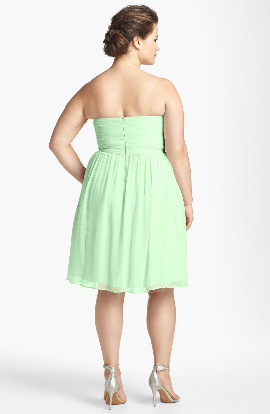 'Morgan' Strapless Silk Chiffon Dress,                             Alternate thumbnail 49, color,