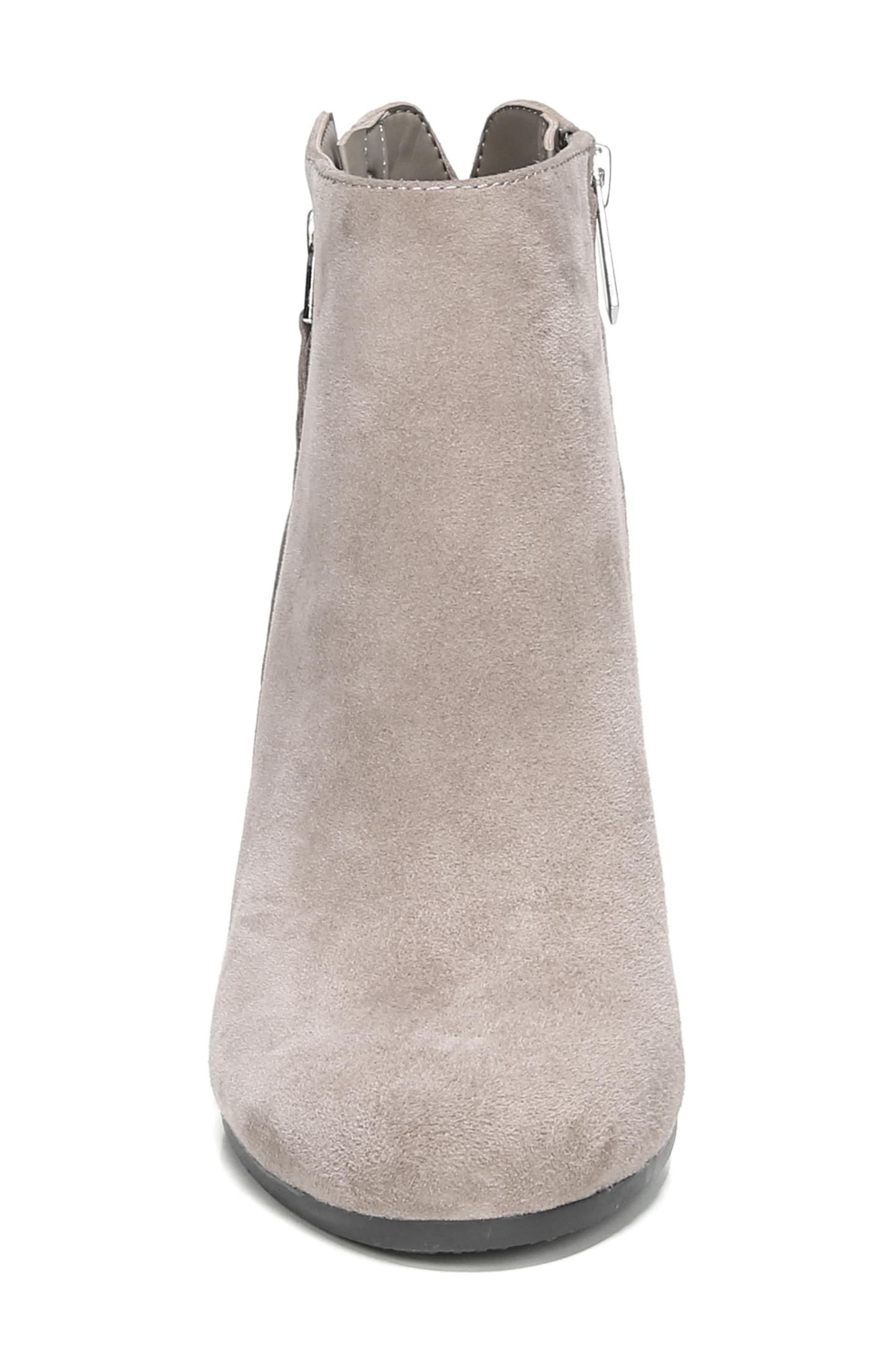 Sadee Angle Zip Bootie,                             Alternate thumbnail 4, color,                             NEW PUTTY SUEDE