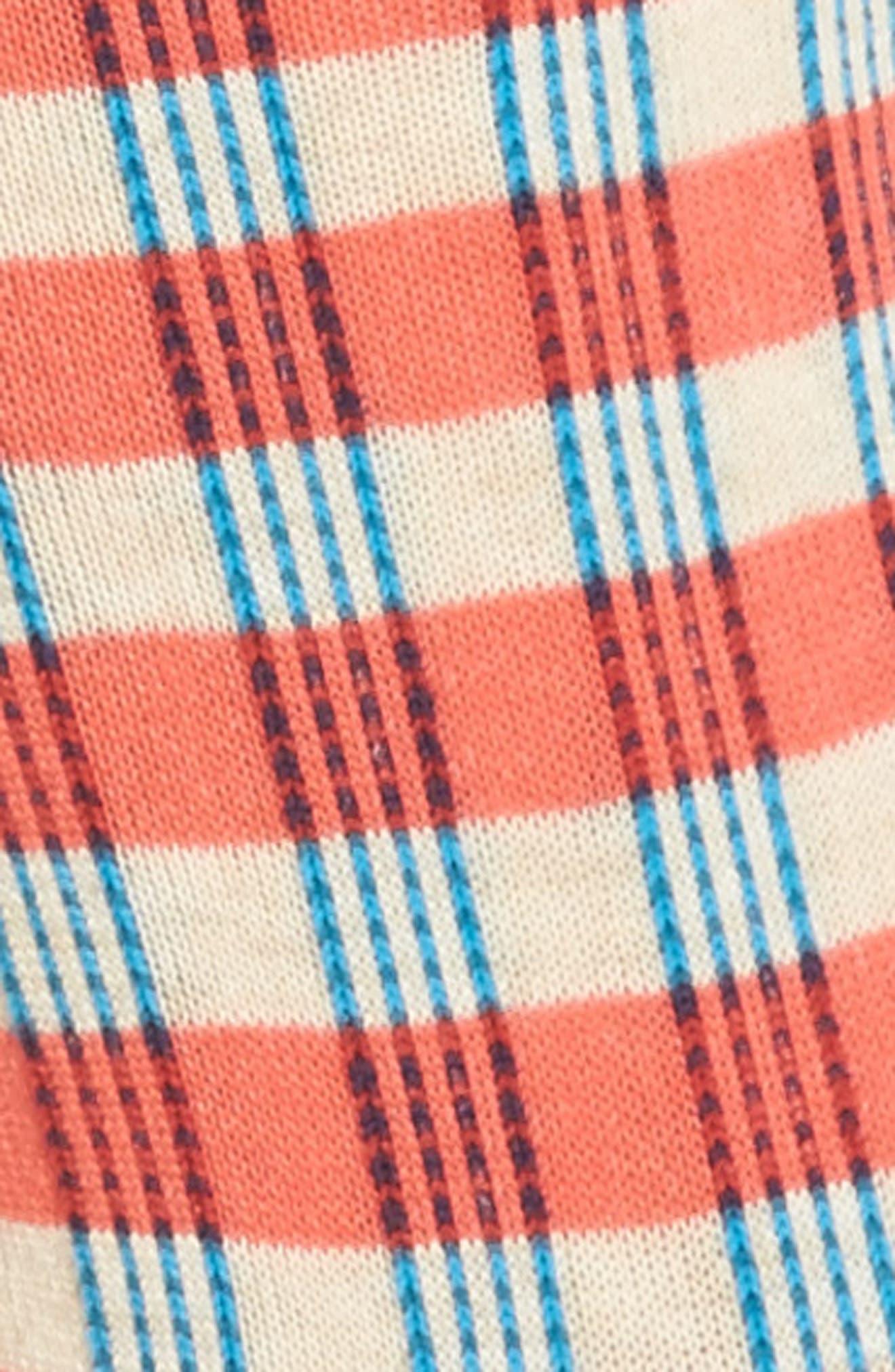 Gingham Crew Socks,                             Alternate thumbnail 3, color,                             830