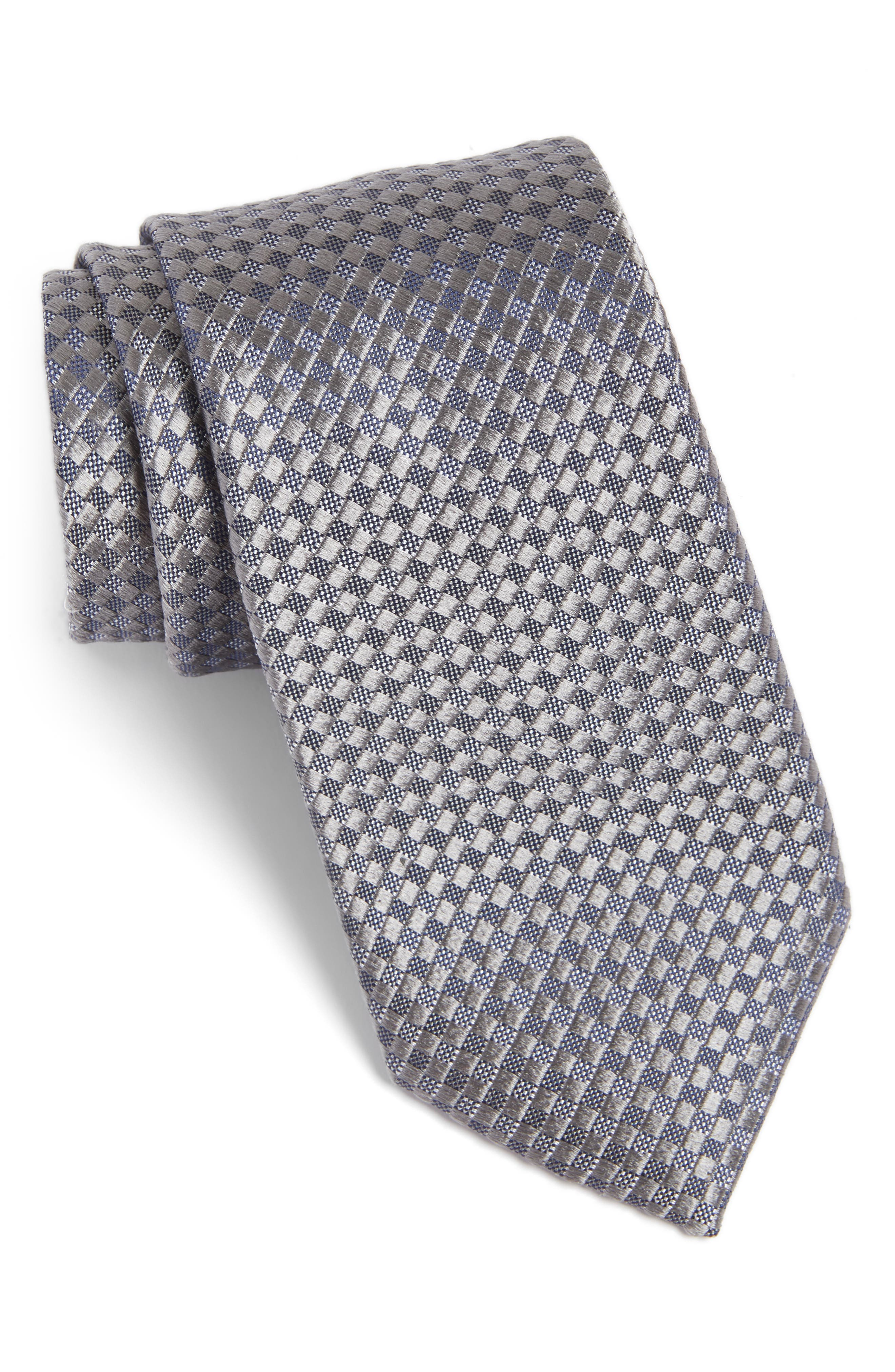 Artesia Check Silk Tie,                             Main thumbnail 1, color,