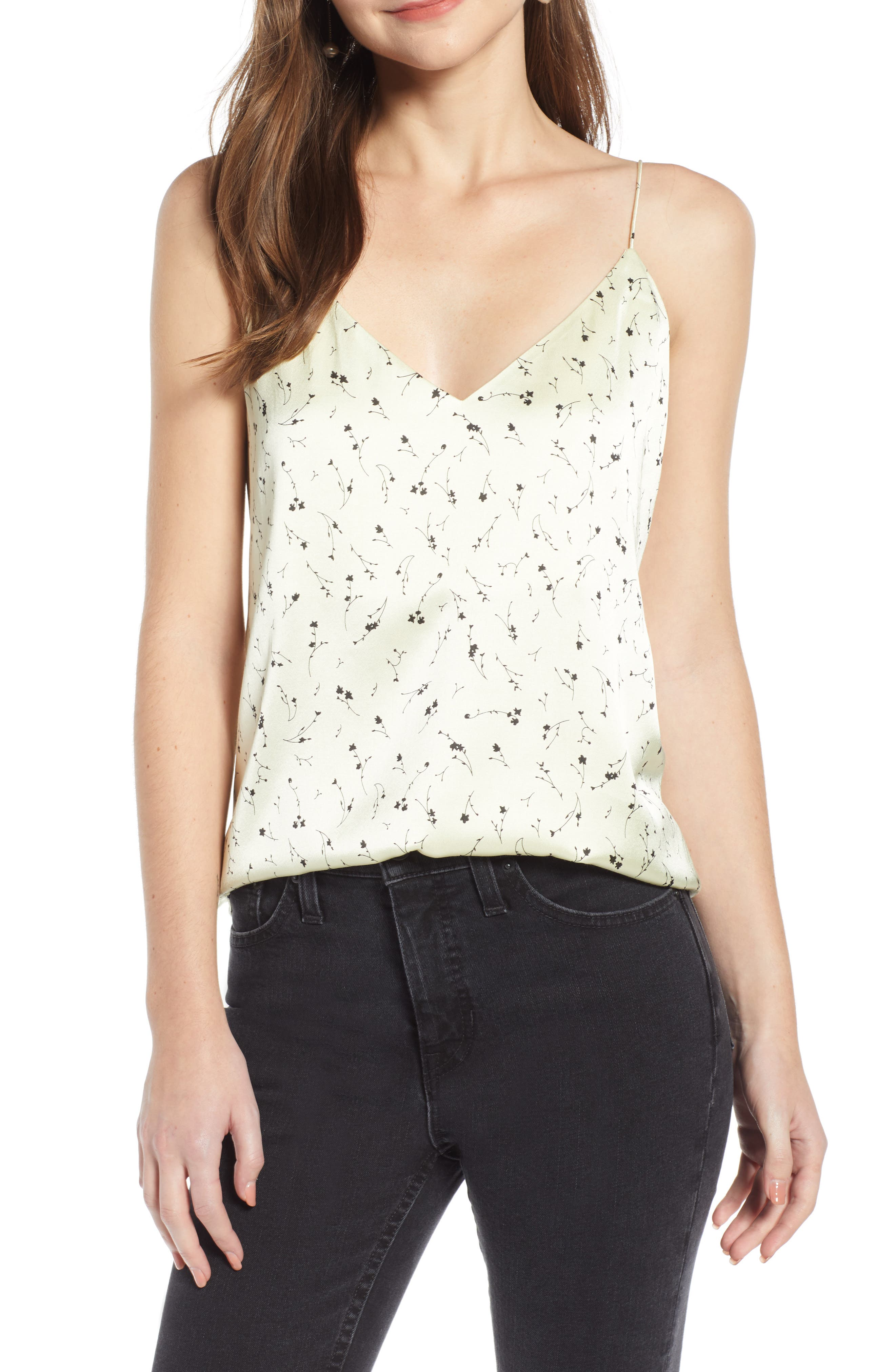 Something Navy Delicate Camisole, Yellow