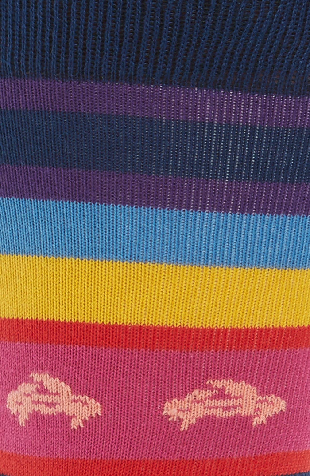 Crab Stripe Socks,                             Alternate thumbnail 2, color,                             415