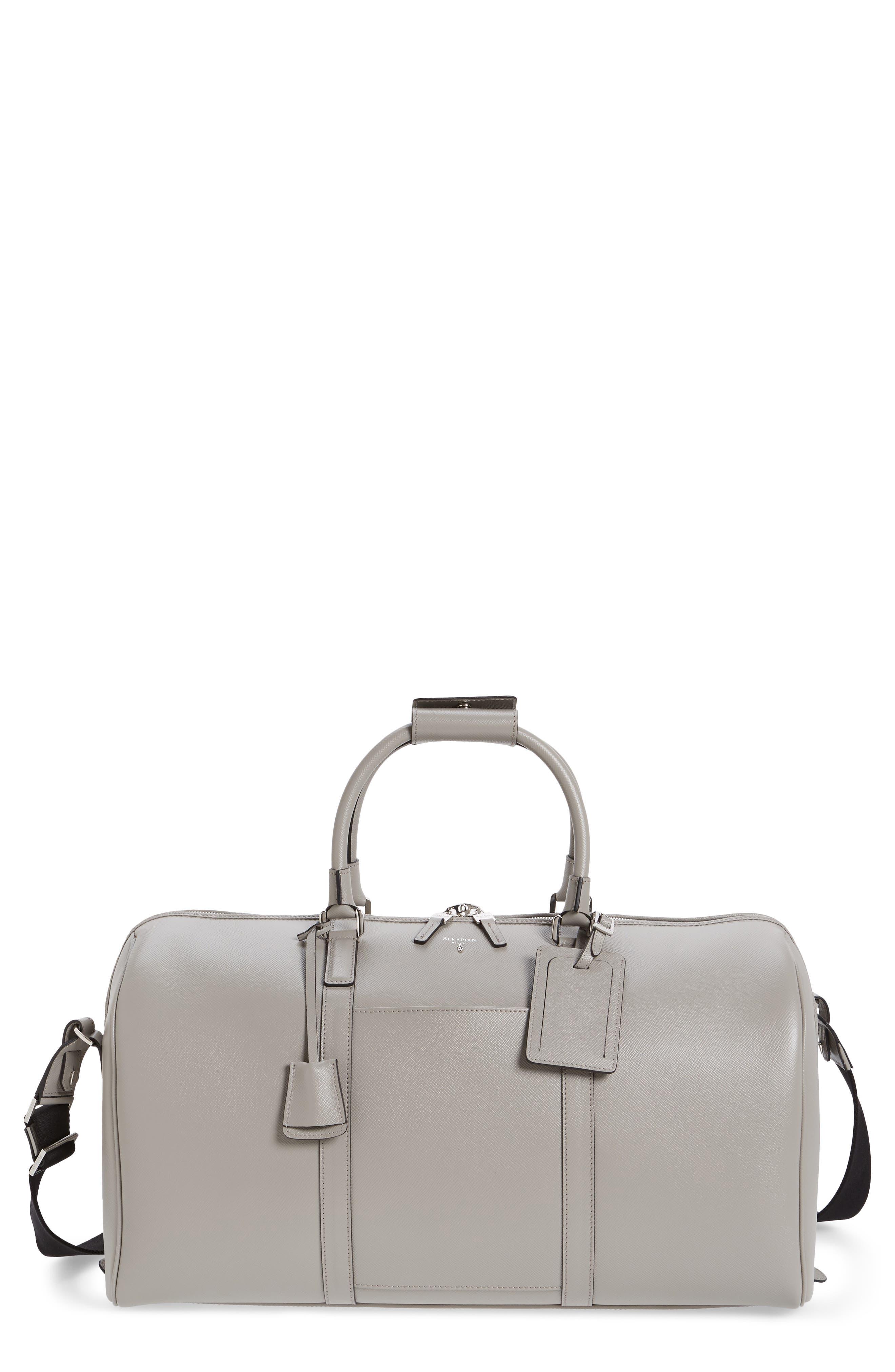 Small Evolution Leather Duffel Bag,                             Main thumbnail 1, color,