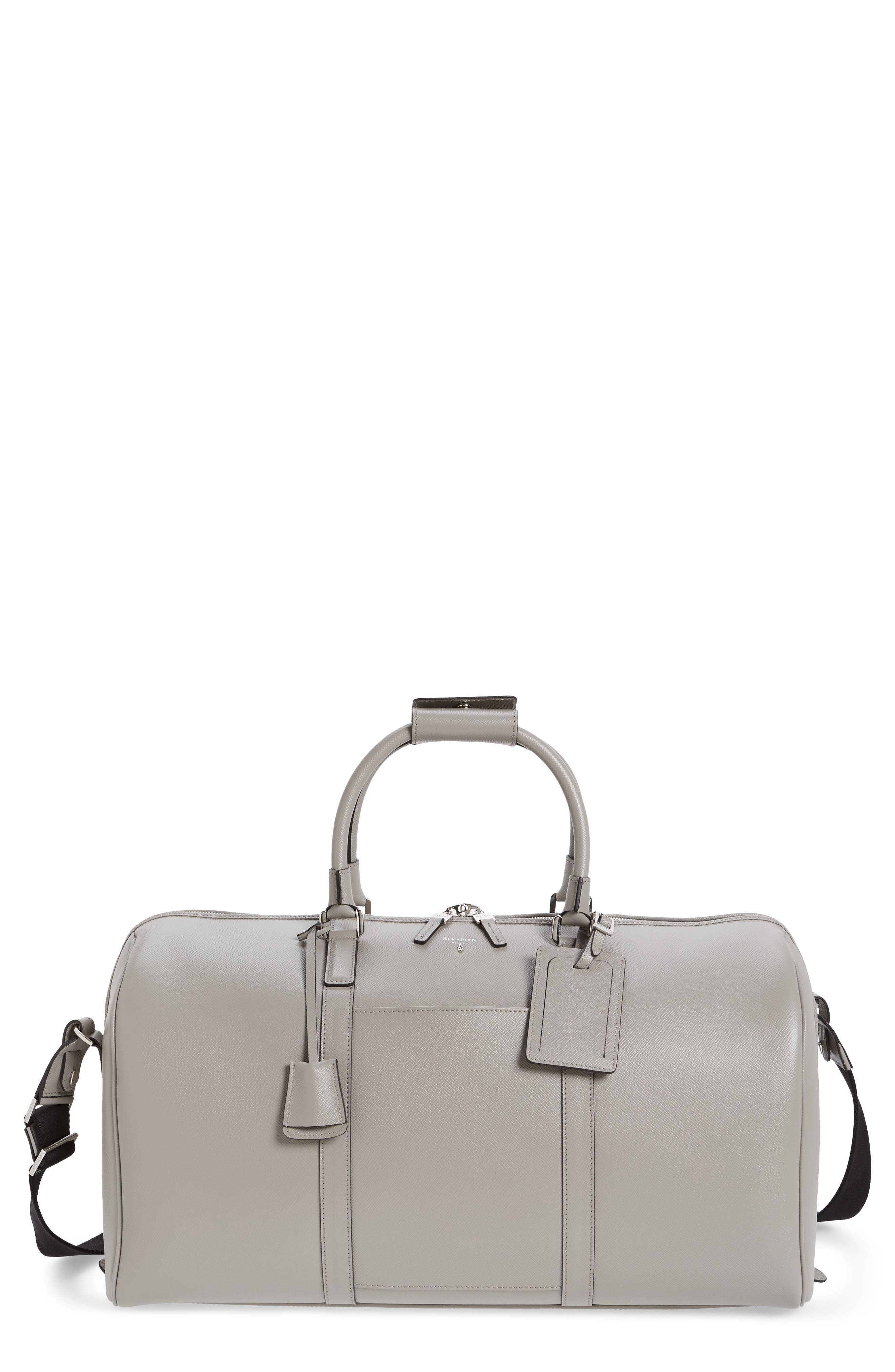 Small Evolution Leather Duffel Bag,                         Main,                         color,