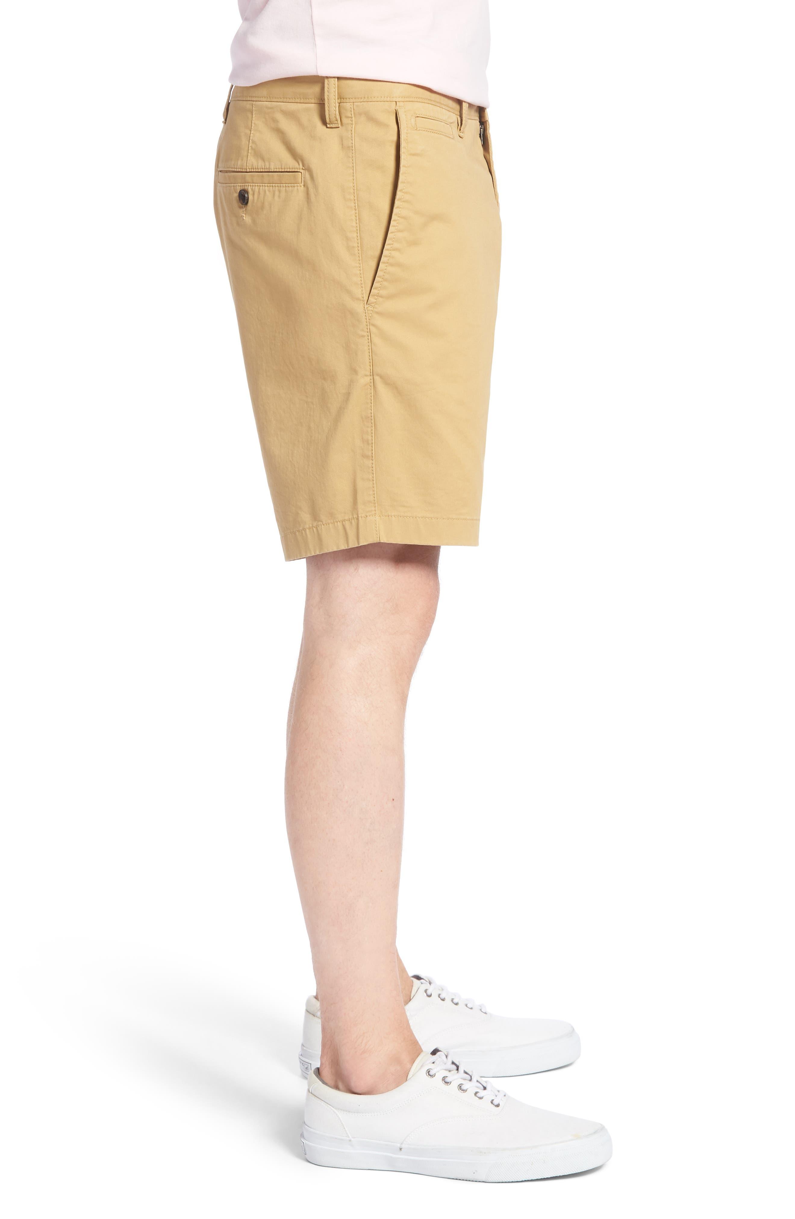 Ballard Slim Fit Stretch Chino 9-Inch Shorts,                             Alternate thumbnail 3, color,                             TAN LARK