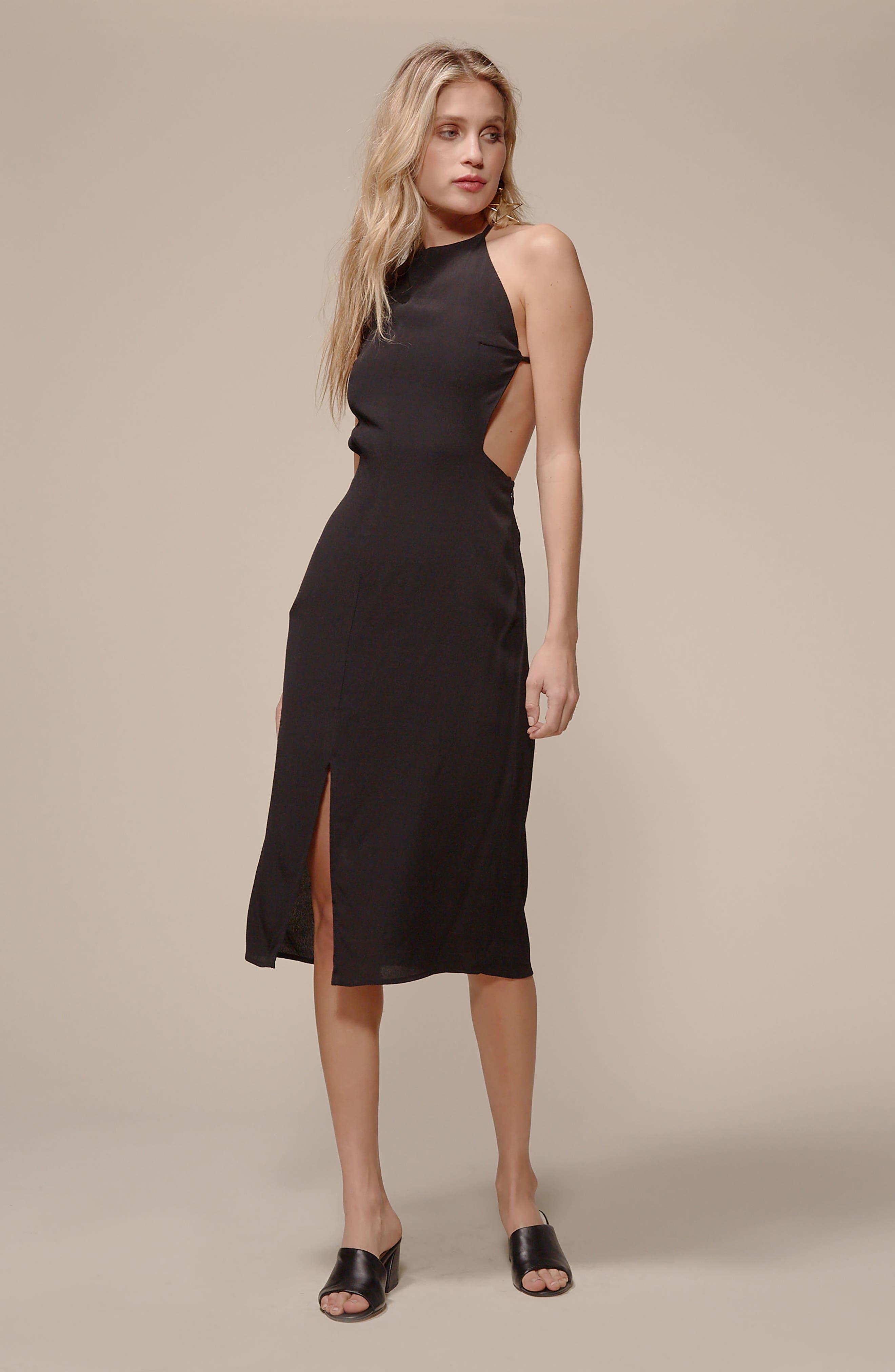 Backless Sheath Dress,                             Alternate thumbnail 7, color,                             001