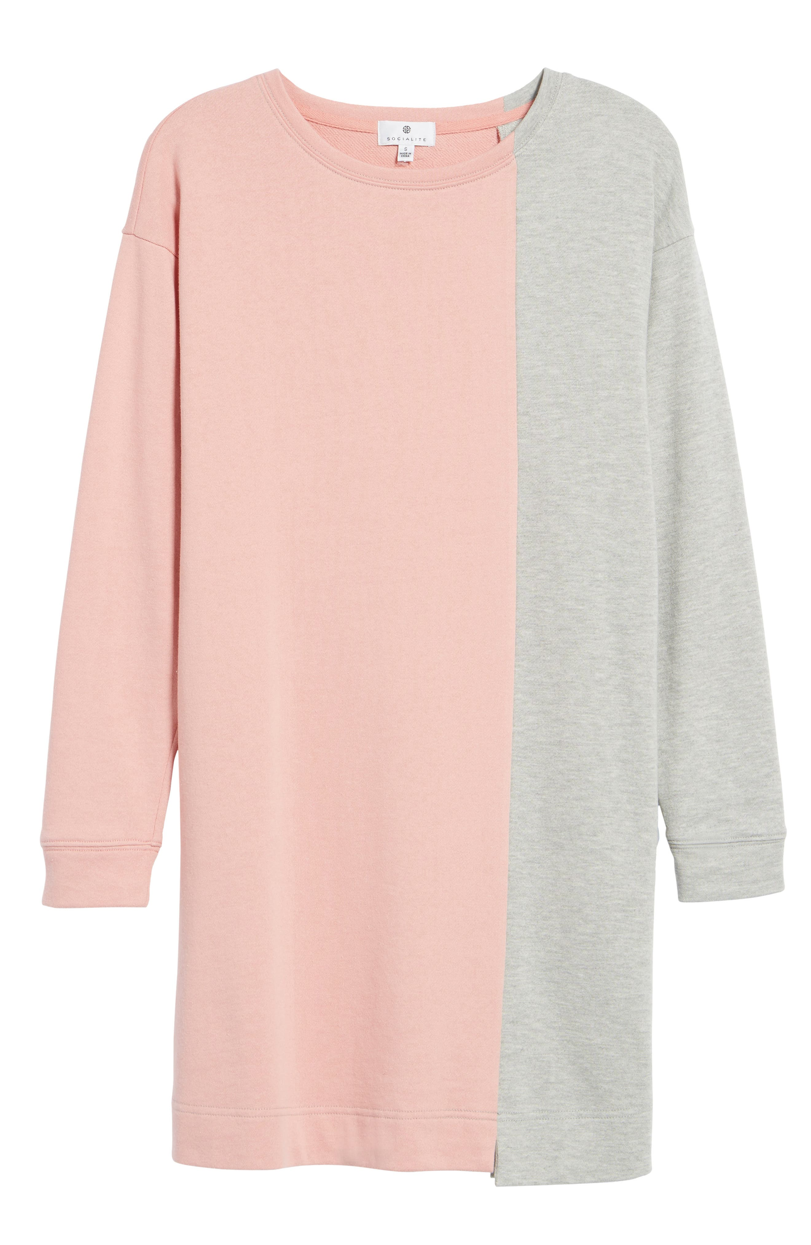 Colorblock Sweatshirt Dress,                             Alternate thumbnail 6, color,                             039