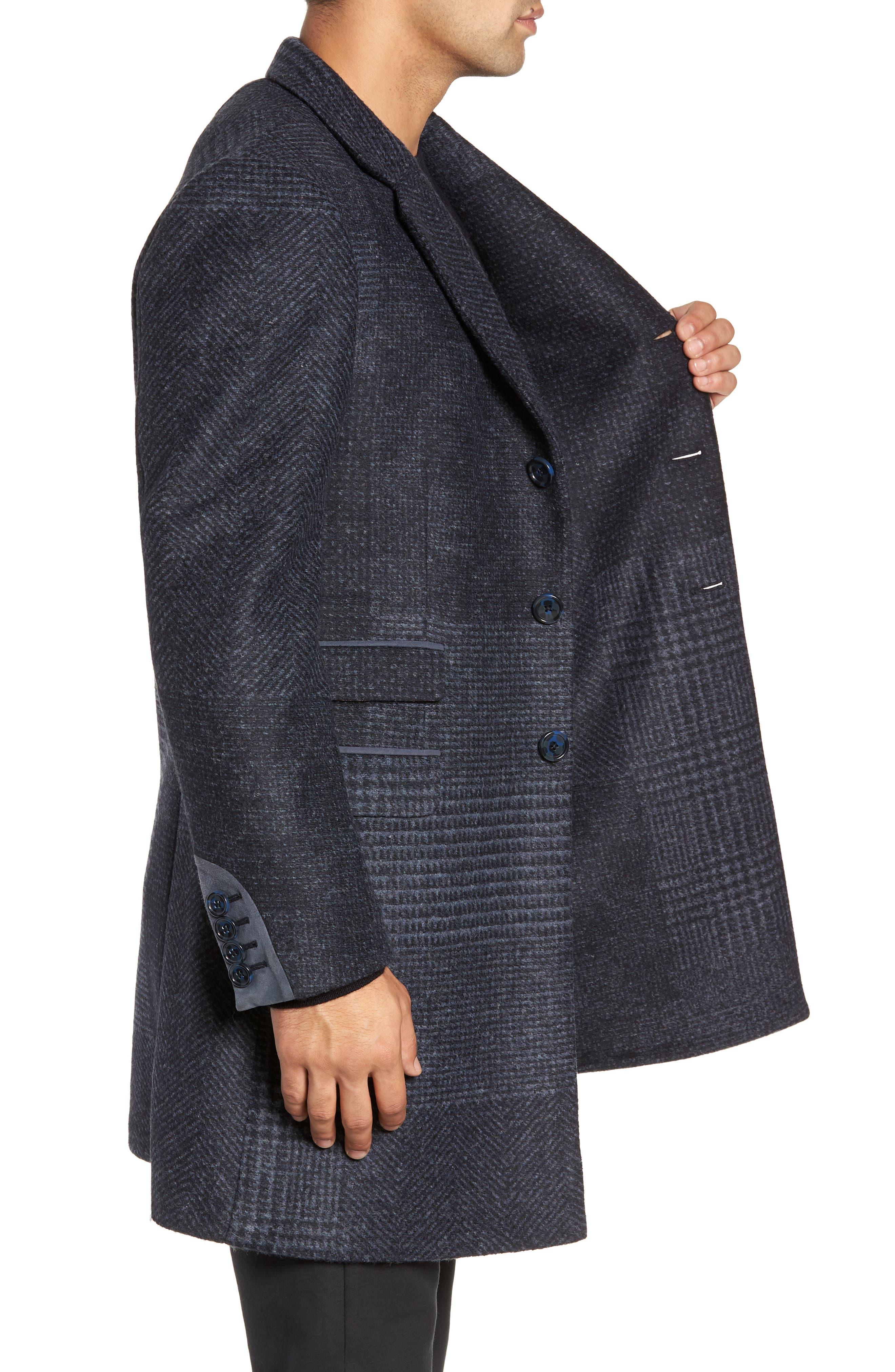Lamberton Classic Top Coat,                             Alternate thumbnail 3, color,                             NAVY