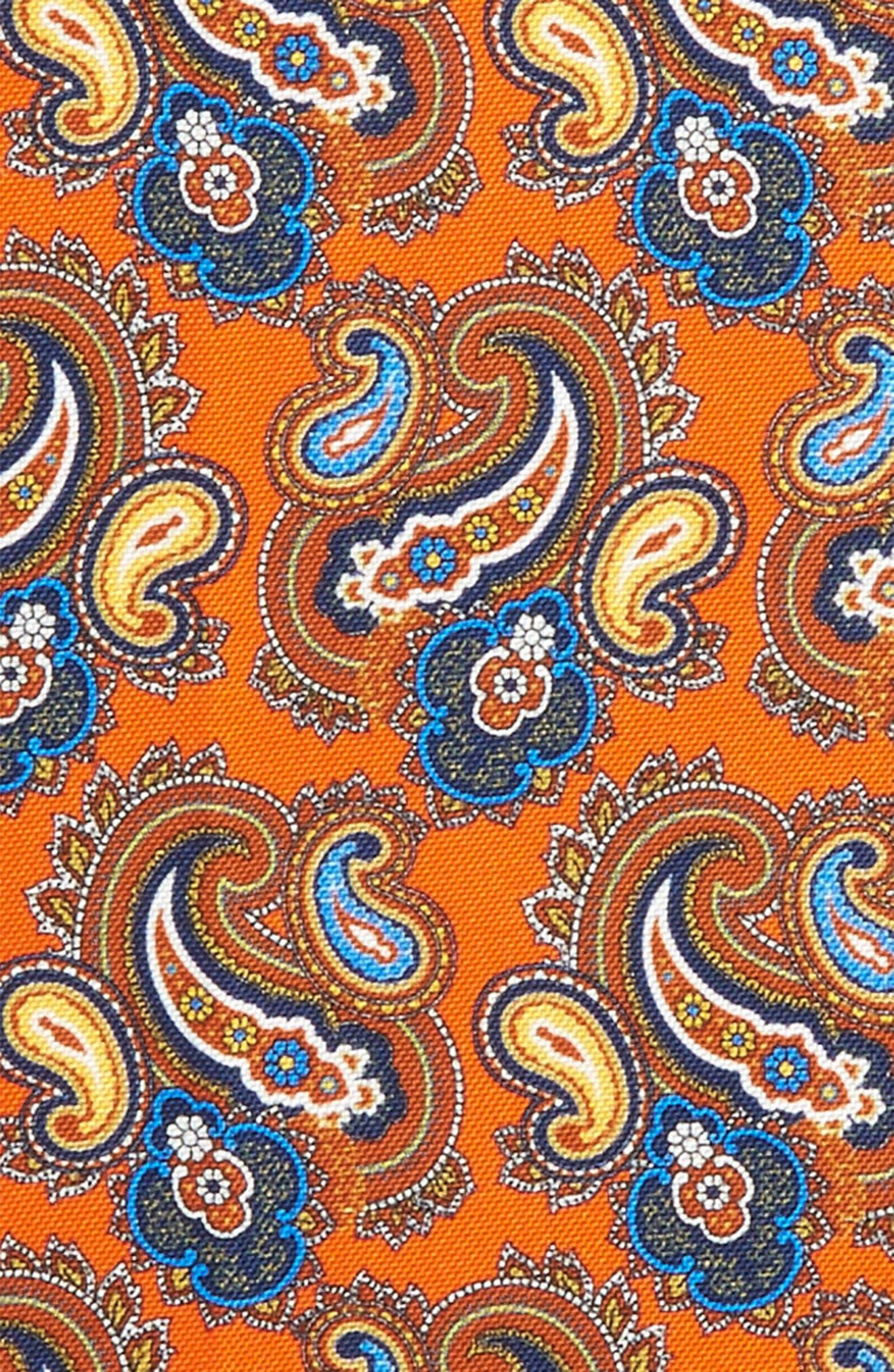 Print Silk Pocket Square,                             Alternate thumbnail 8, color,
