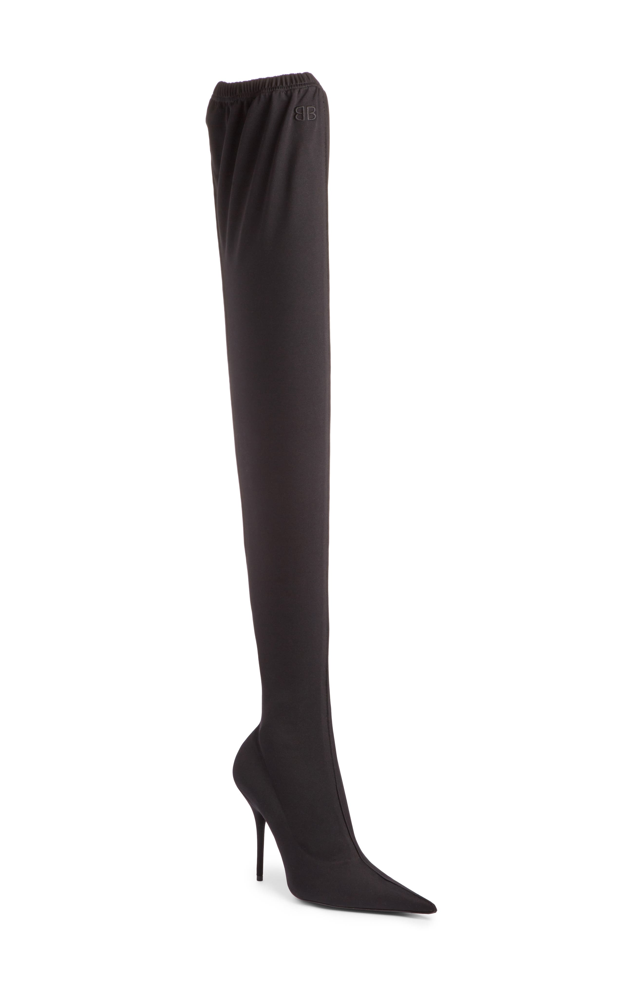 Thigh High Boot,                         Main,                         color, BLACK