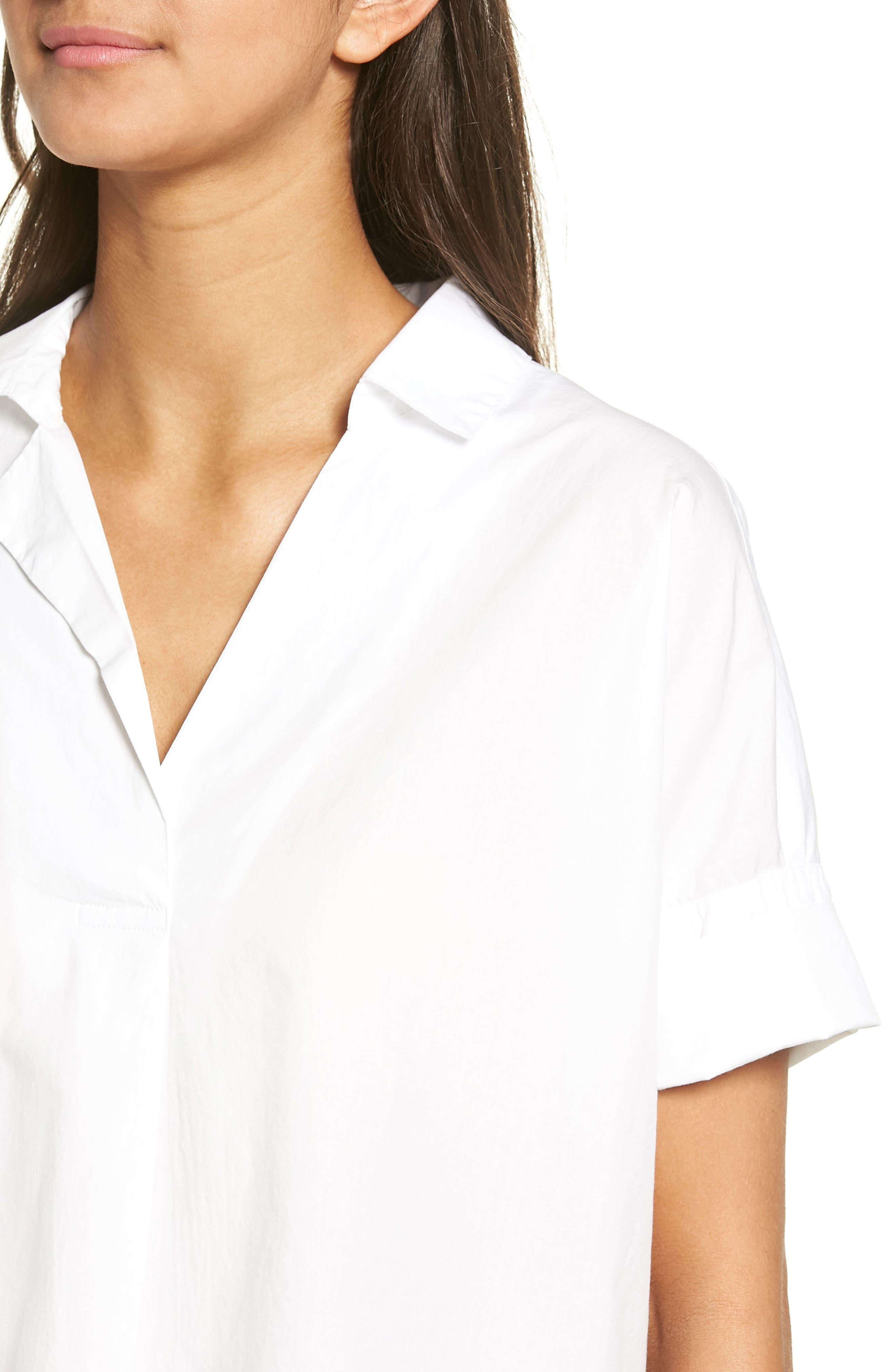 Courier Cotton Shirt,                             Alternate thumbnail 4, color,