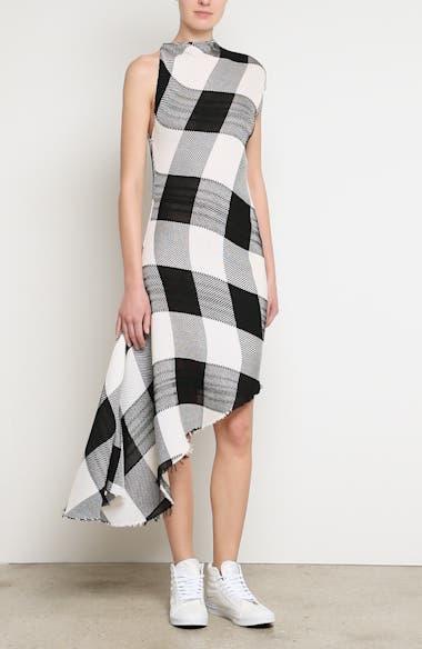 Marques'Almeida Asymmetrical Gingham Sheath Dress, video thumbnail