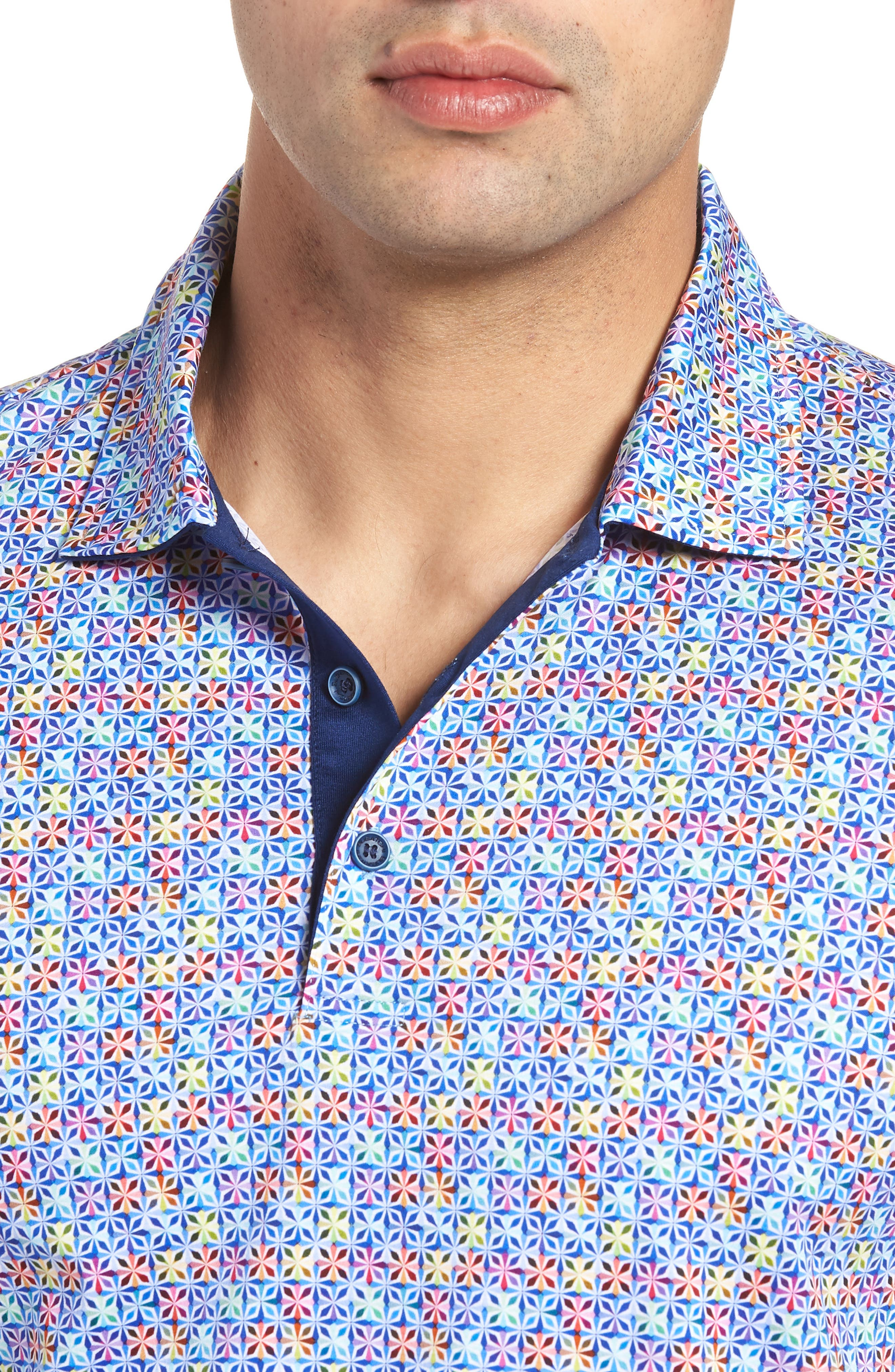 Regular Fit Knit Polo,                             Alternate thumbnail 4, color,                             CANDY