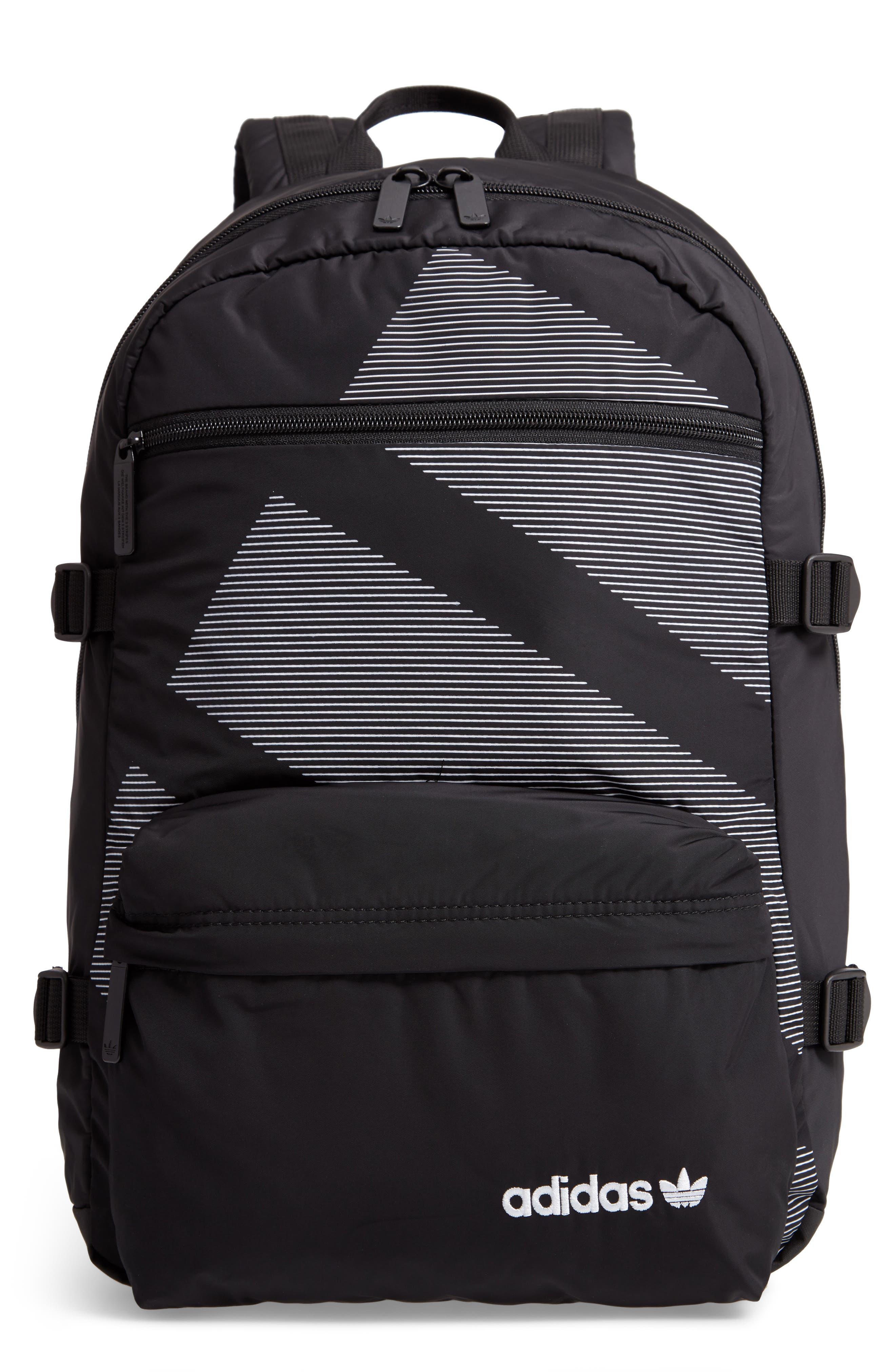EQT Backpack,                         Main,                         color, BLACK/ WHITE/ SUB GREEN