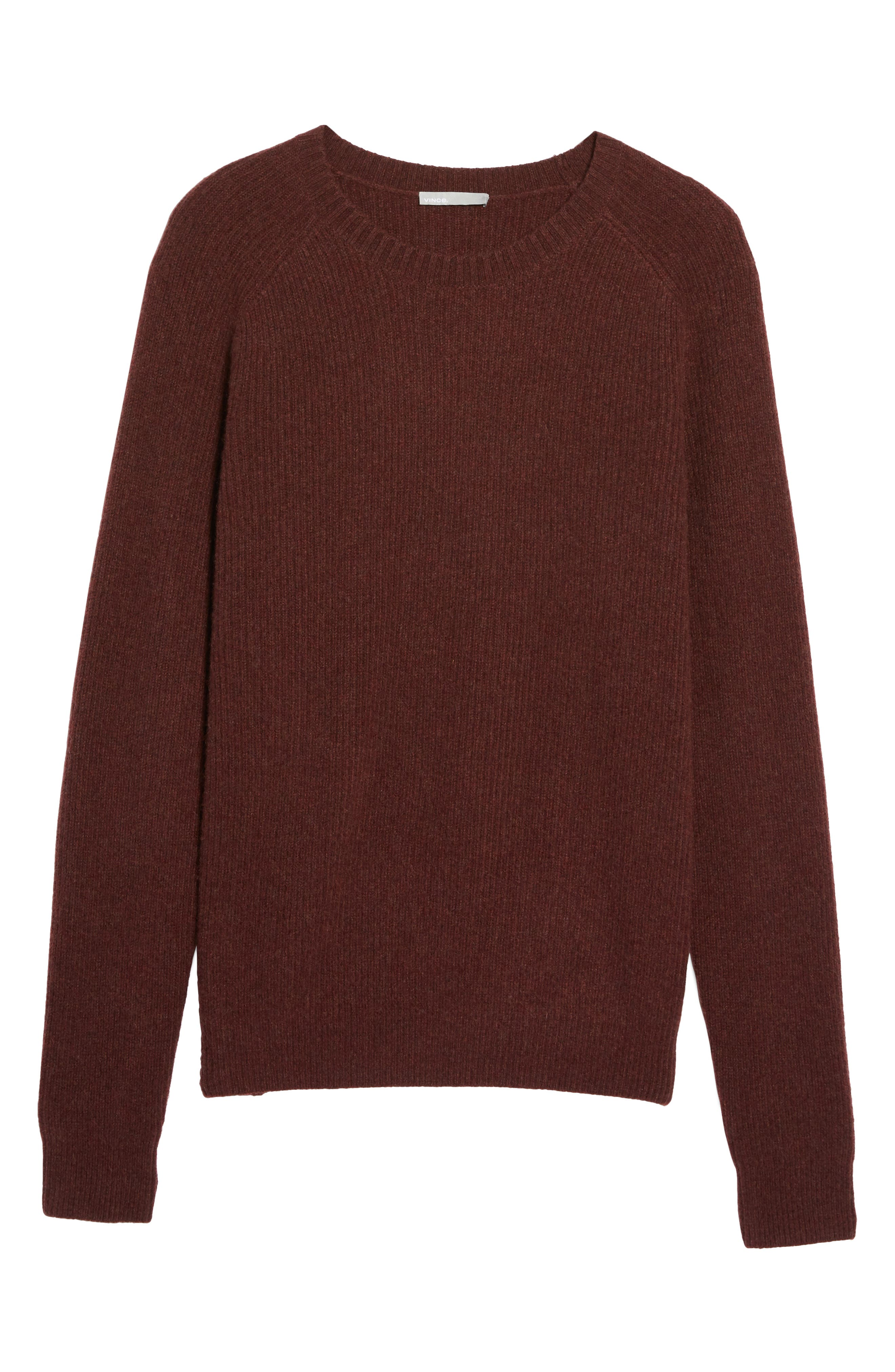 Ribbed Wool & Cashmere Raglan Sweater,                             Alternate thumbnail 24, color,