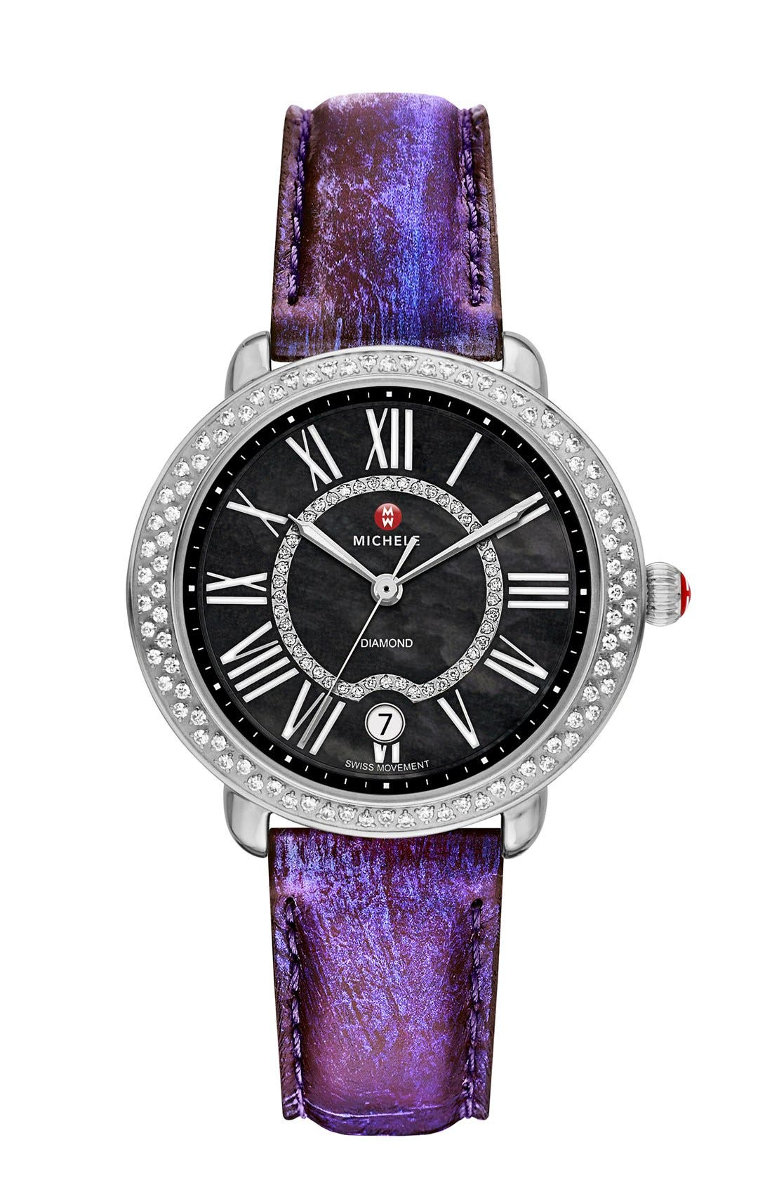 Serein 16 Diamond Watch Case, 34mm x 36mm,                             Alternate thumbnail 8, color,