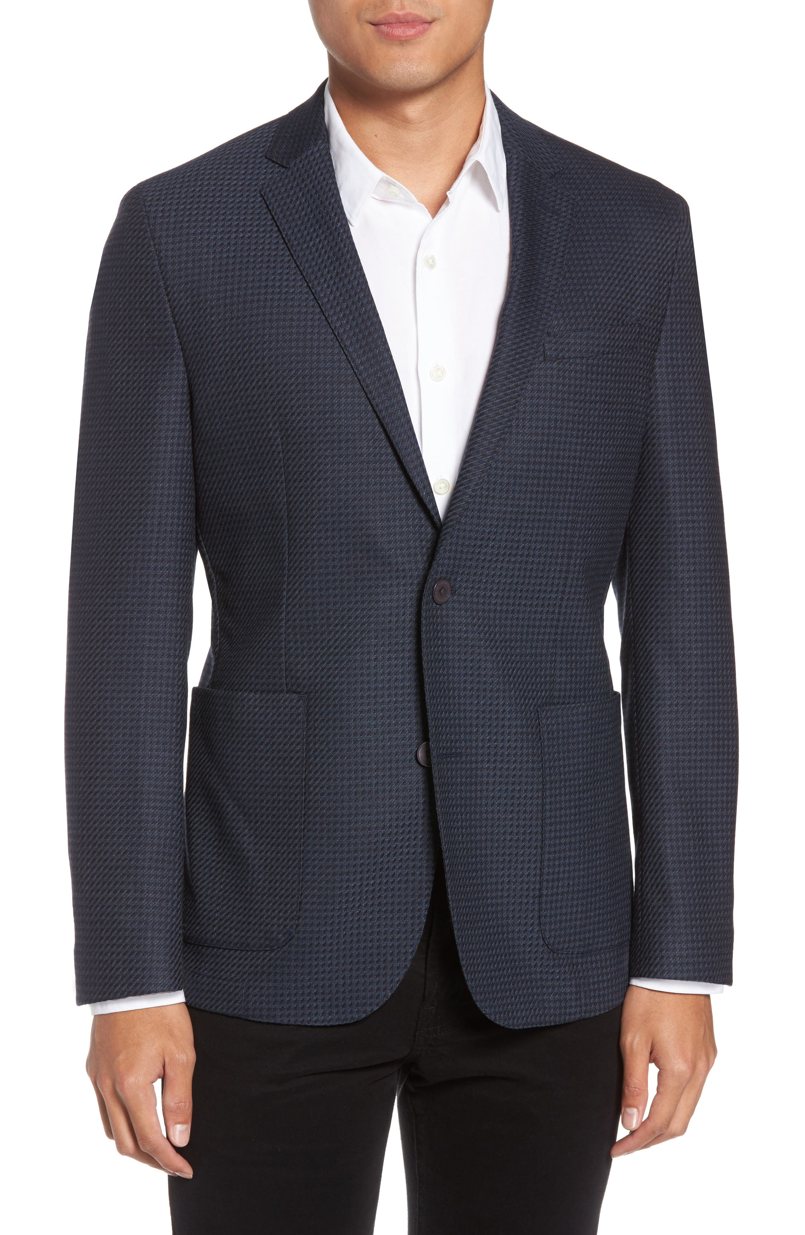 Digital Houndstooth Wool Blend Sport Coat,                         Main,                         color, 410