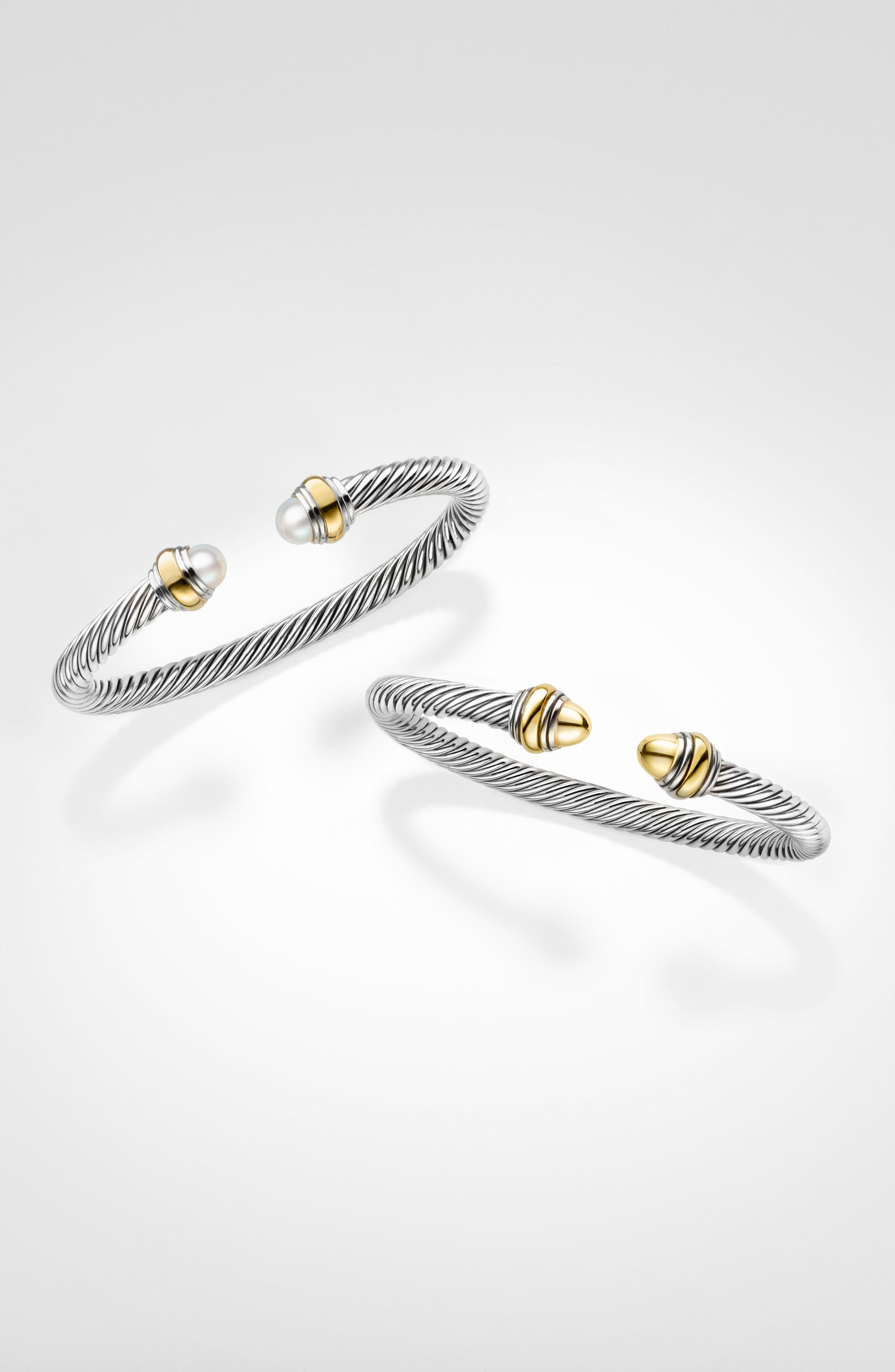 Cable Classics Bracelet with Gold, 5mm,                             Alternate thumbnail 4, color,                             GOLD DOME