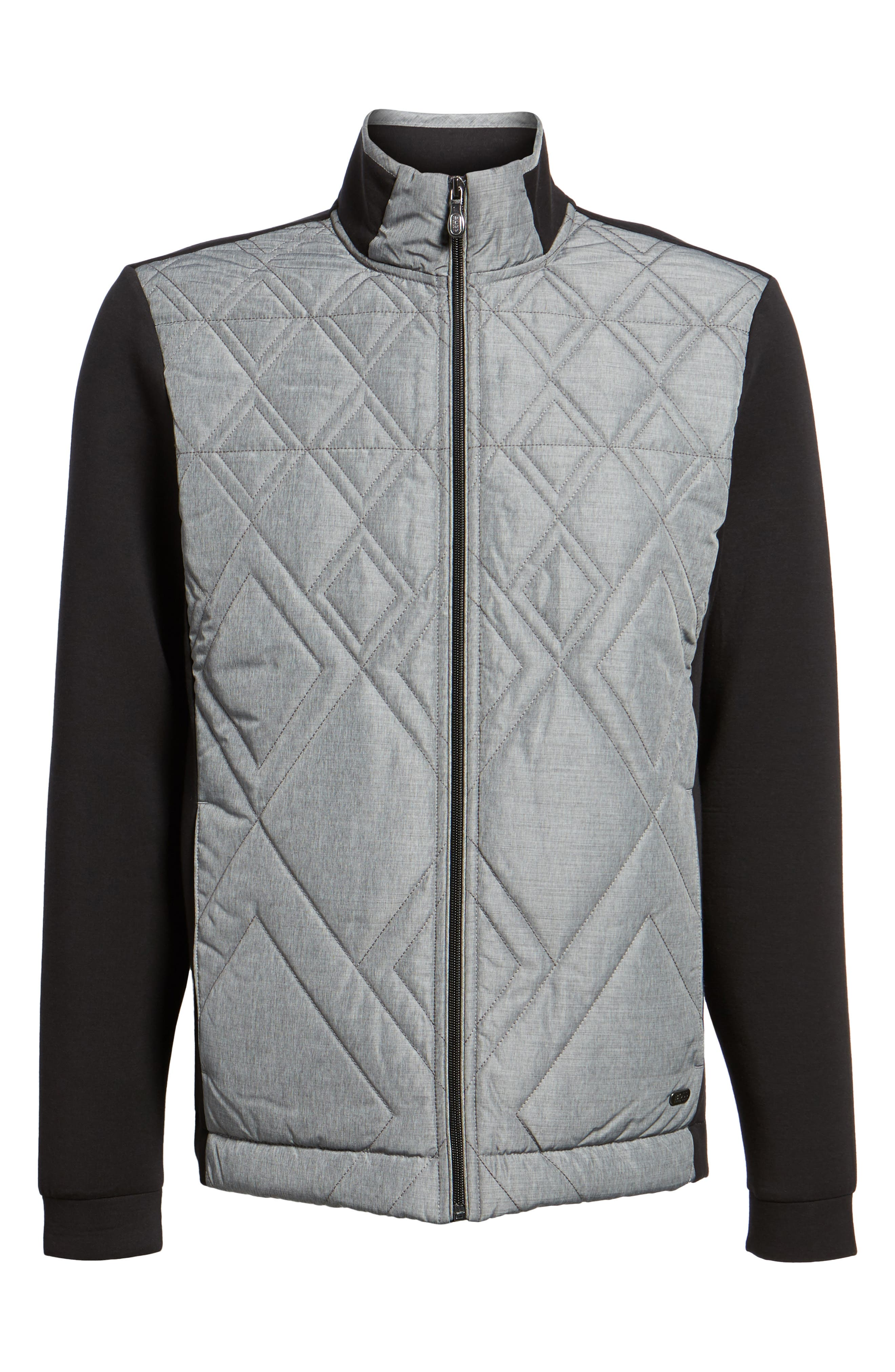 C-Pizzoli Quilted Jacket,                             Alternate thumbnail 5, color,                             001