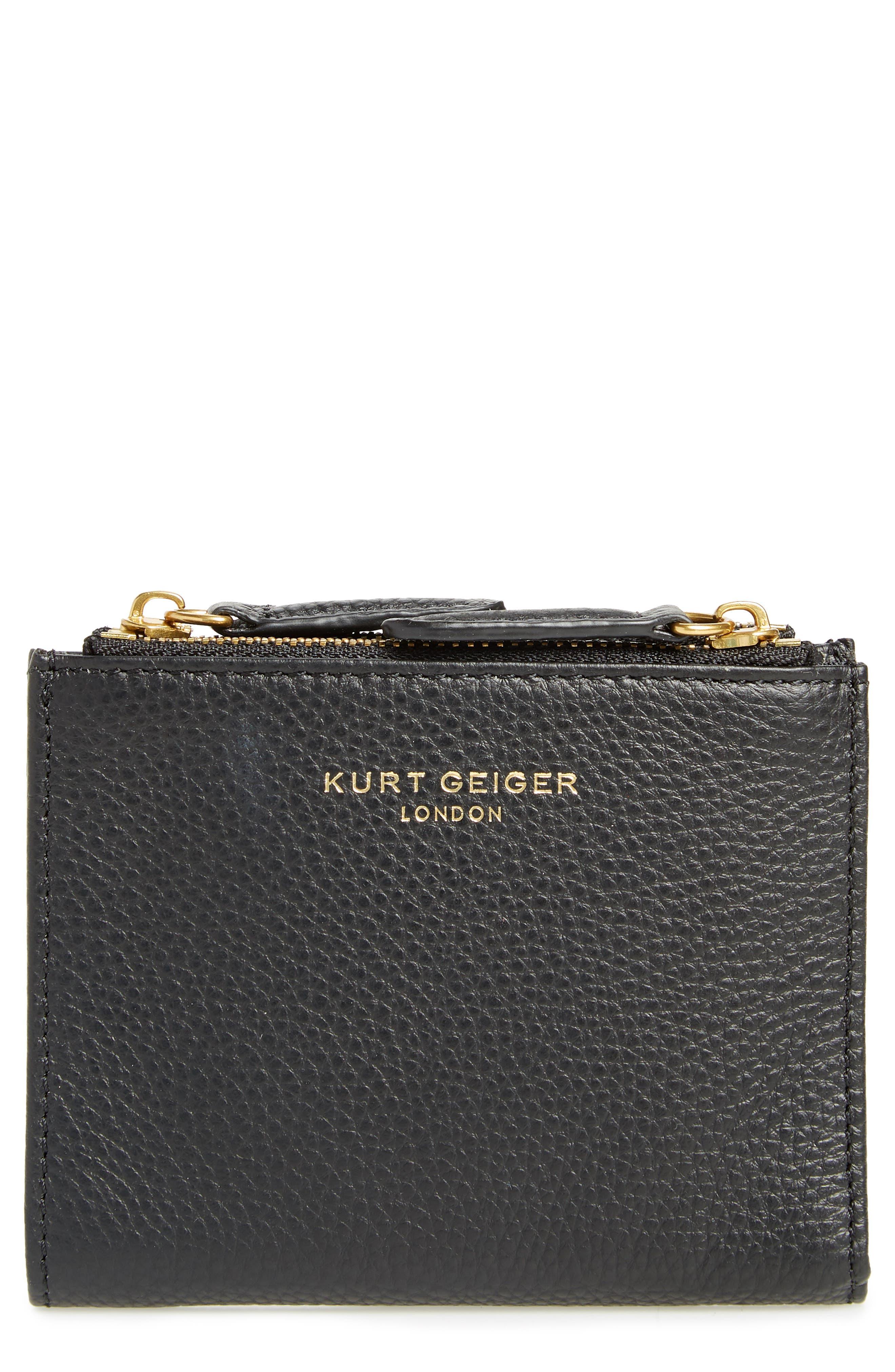 E Leather Wallet,                         Main,                         color, 001