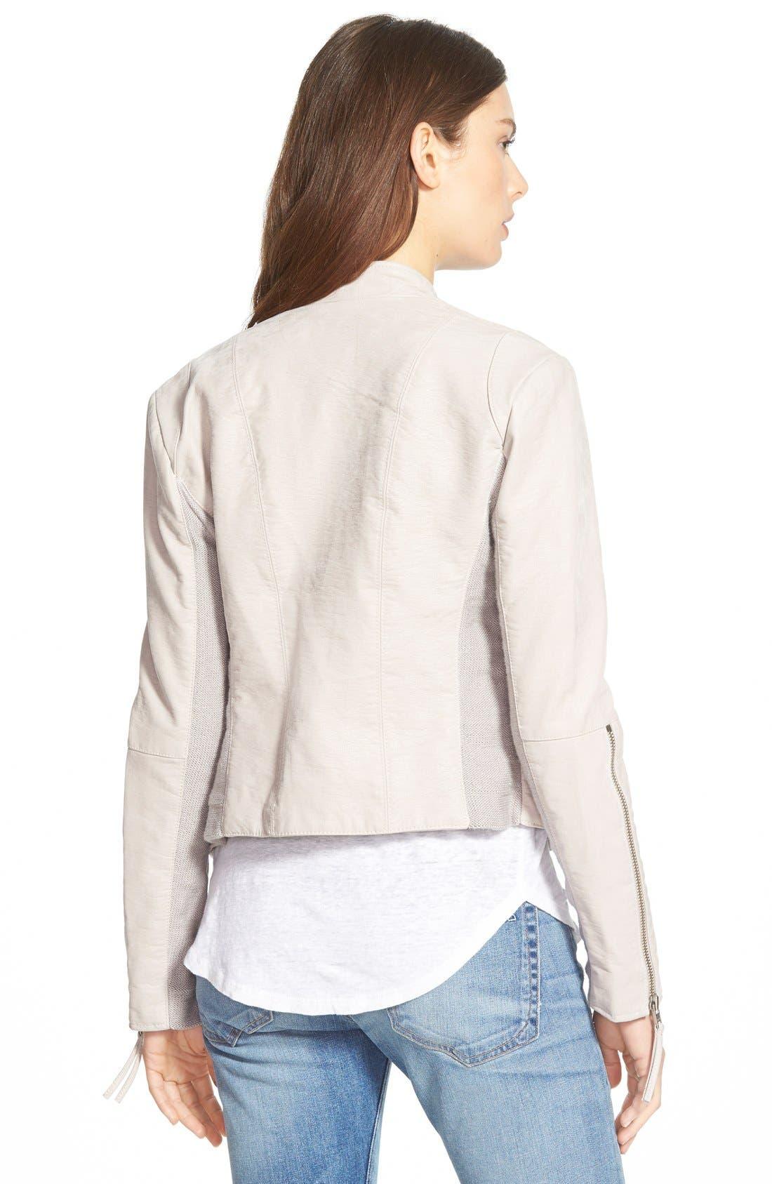 Faux Leather Jacket,                             Alternate thumbnail 14, color,