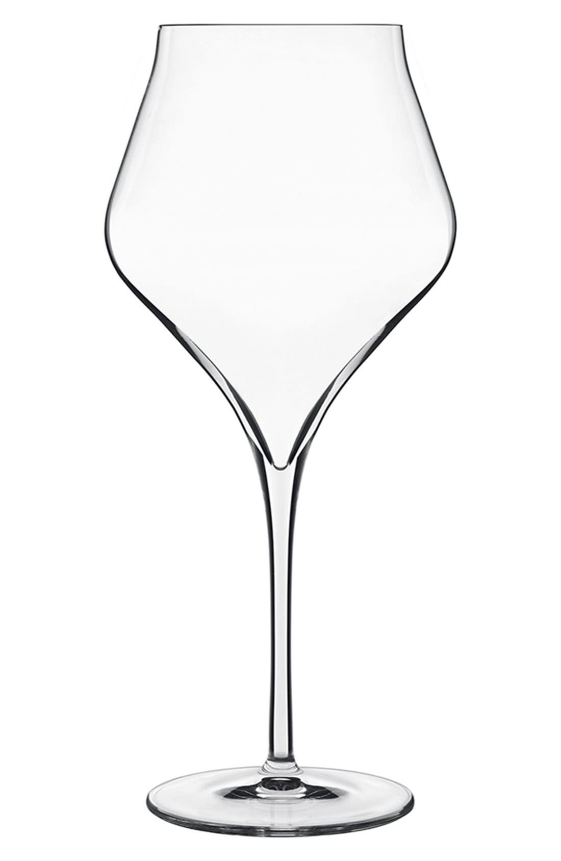 'Supremo' Burgundy Wine Glasses,                             Main thumbnail 1, color,                             WHITE