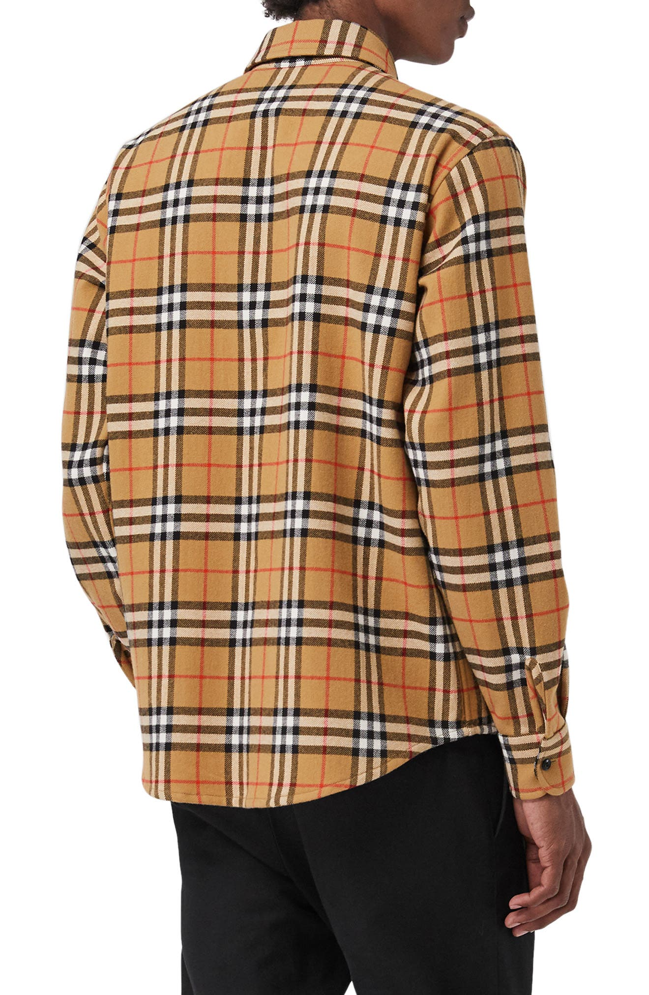 Lyndhurst Check Flannel Shirt,                             Alternate thumbnail 4, color,                             ANTIQUE YEL IP CHK