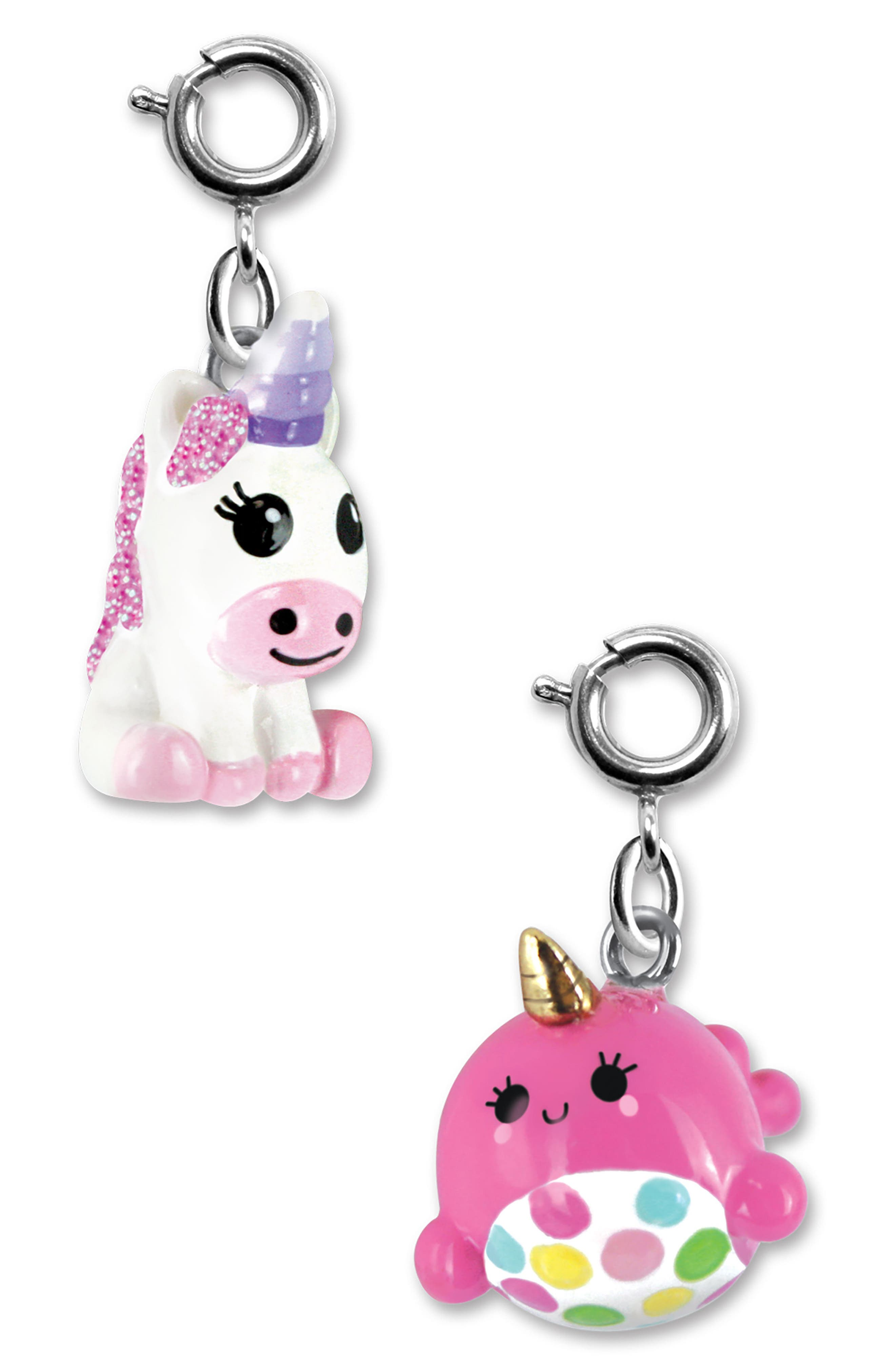 CHARM IT!<sup>®</sup> 2-Pack Unicorn & Narwhal Charms,                             Main thumbnail 1, color,                             MULTI