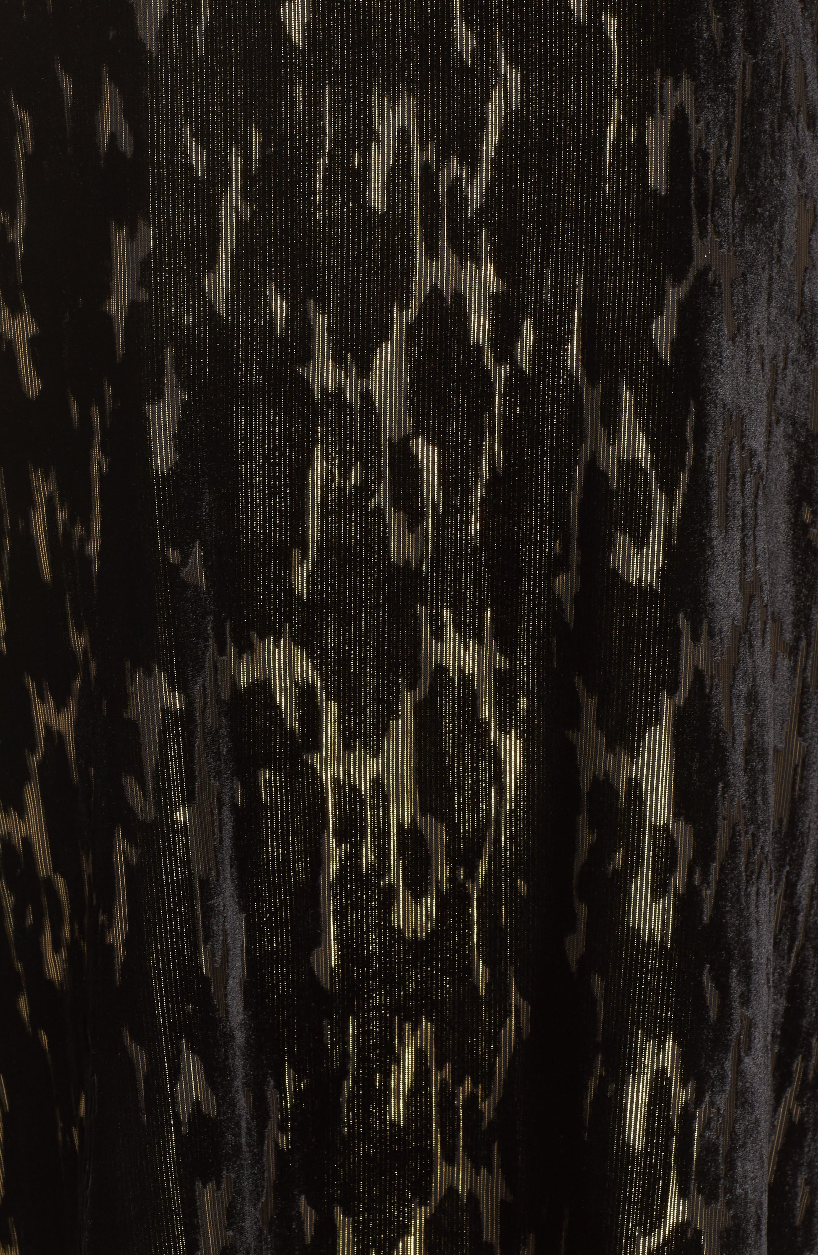 Burnout Velvet Dress,                             Alternate thumbnail 5, color,