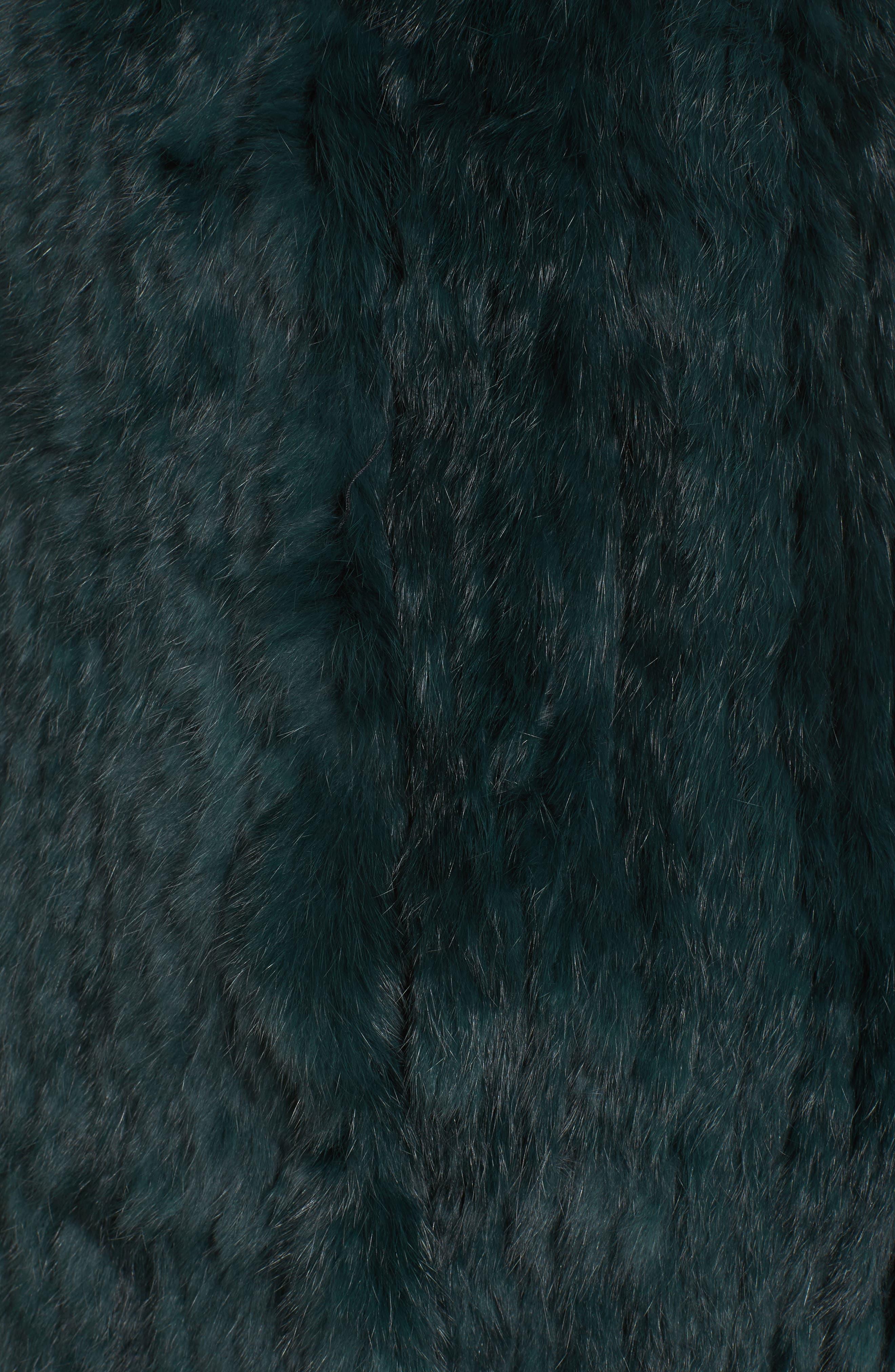 Genuine Rabbit Fur & Knit Vest,                             Alternate thumbnail 28, color,