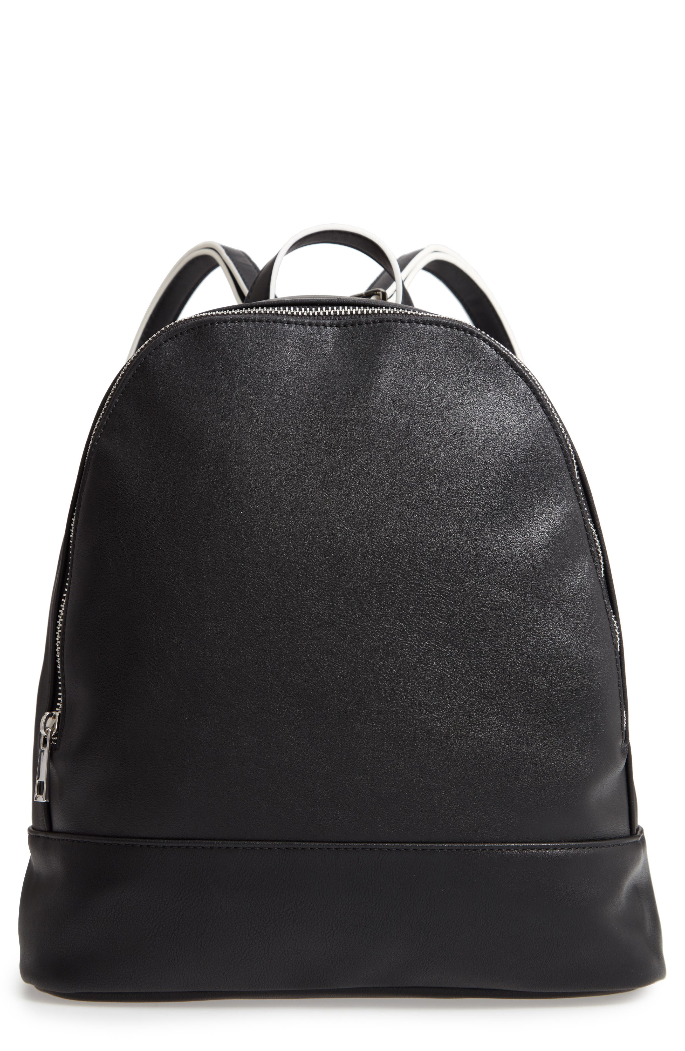 SOLE SOCIETY Haili Faux Leather Backpack, Main, color, 001