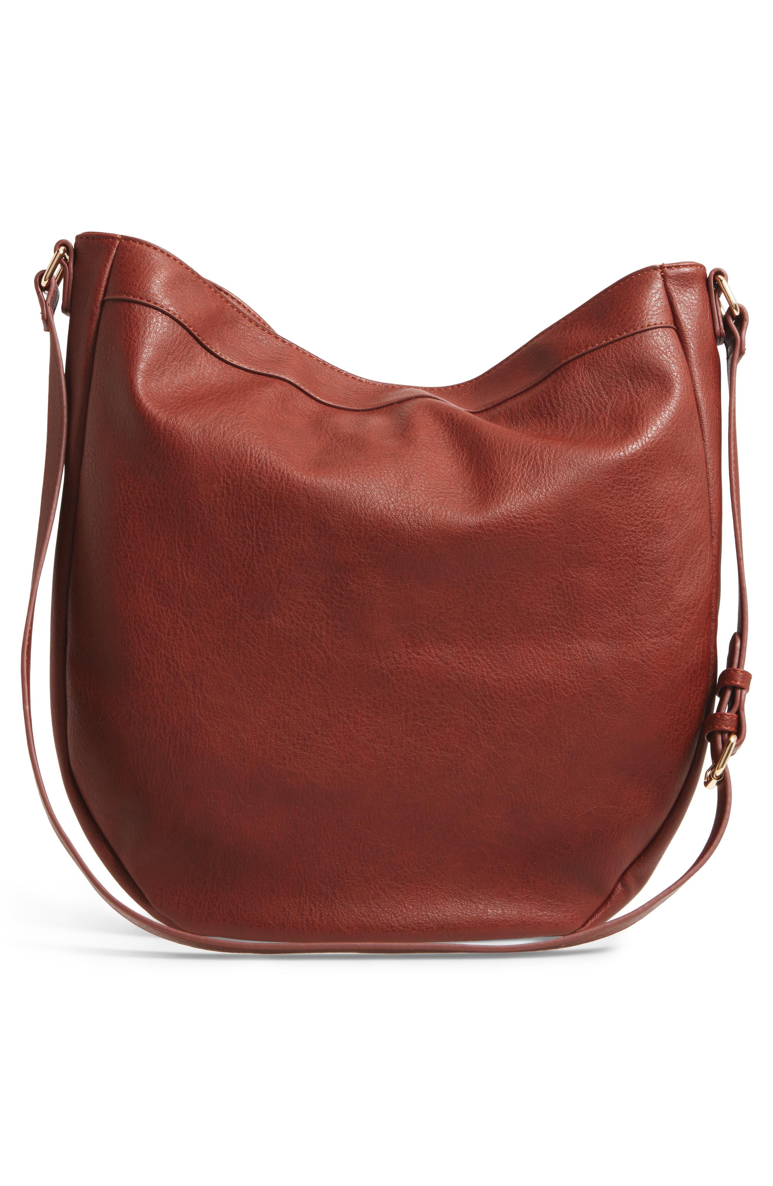 Kadence Faux Leather Shoulder Bag,                             Alternate thumbnail 6, color,