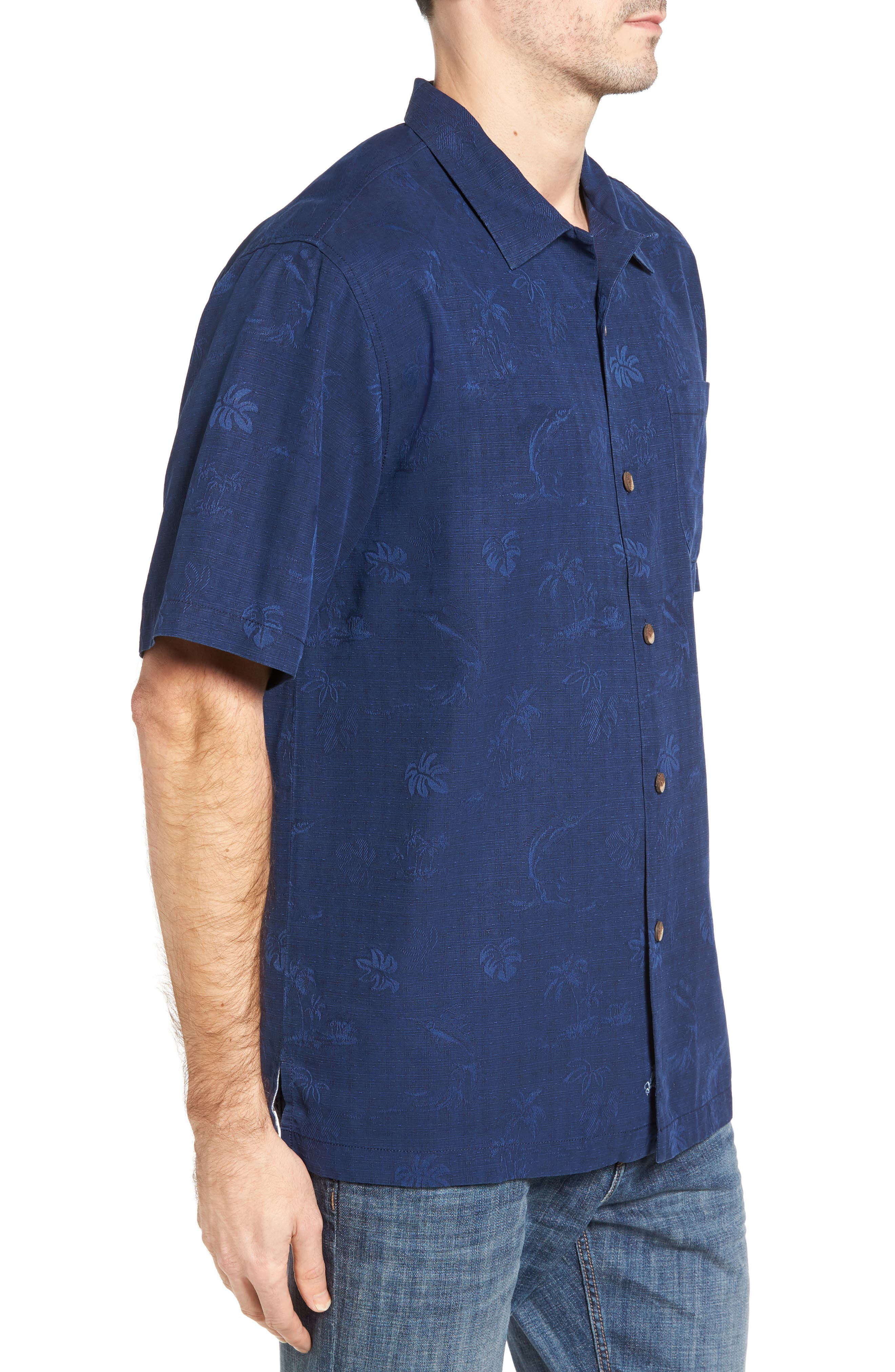 Gulf Shore Marlin Silk Camp Shirt,                             Alternate thumbnail 14, color,